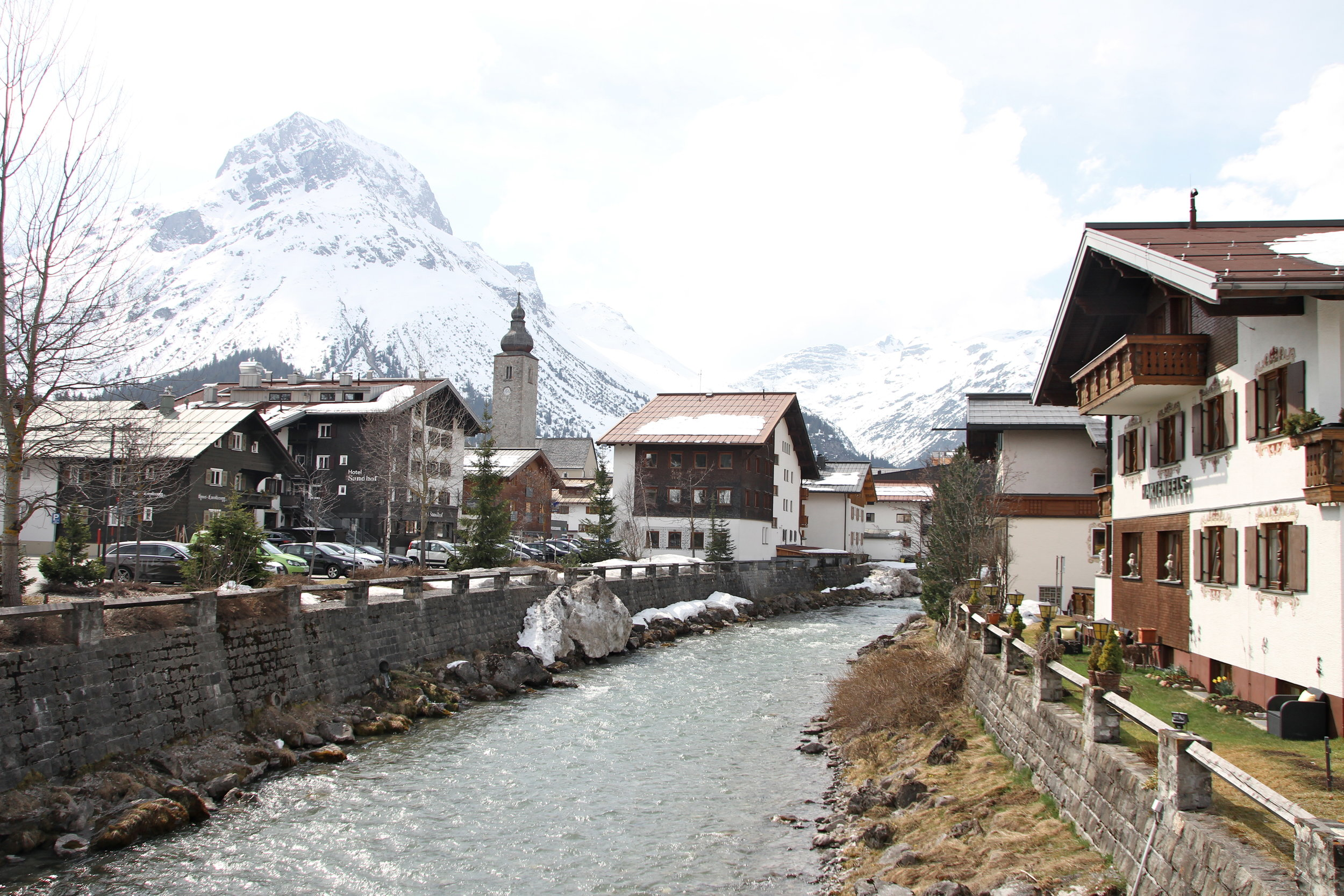 The pretty village of Lech, Austria.