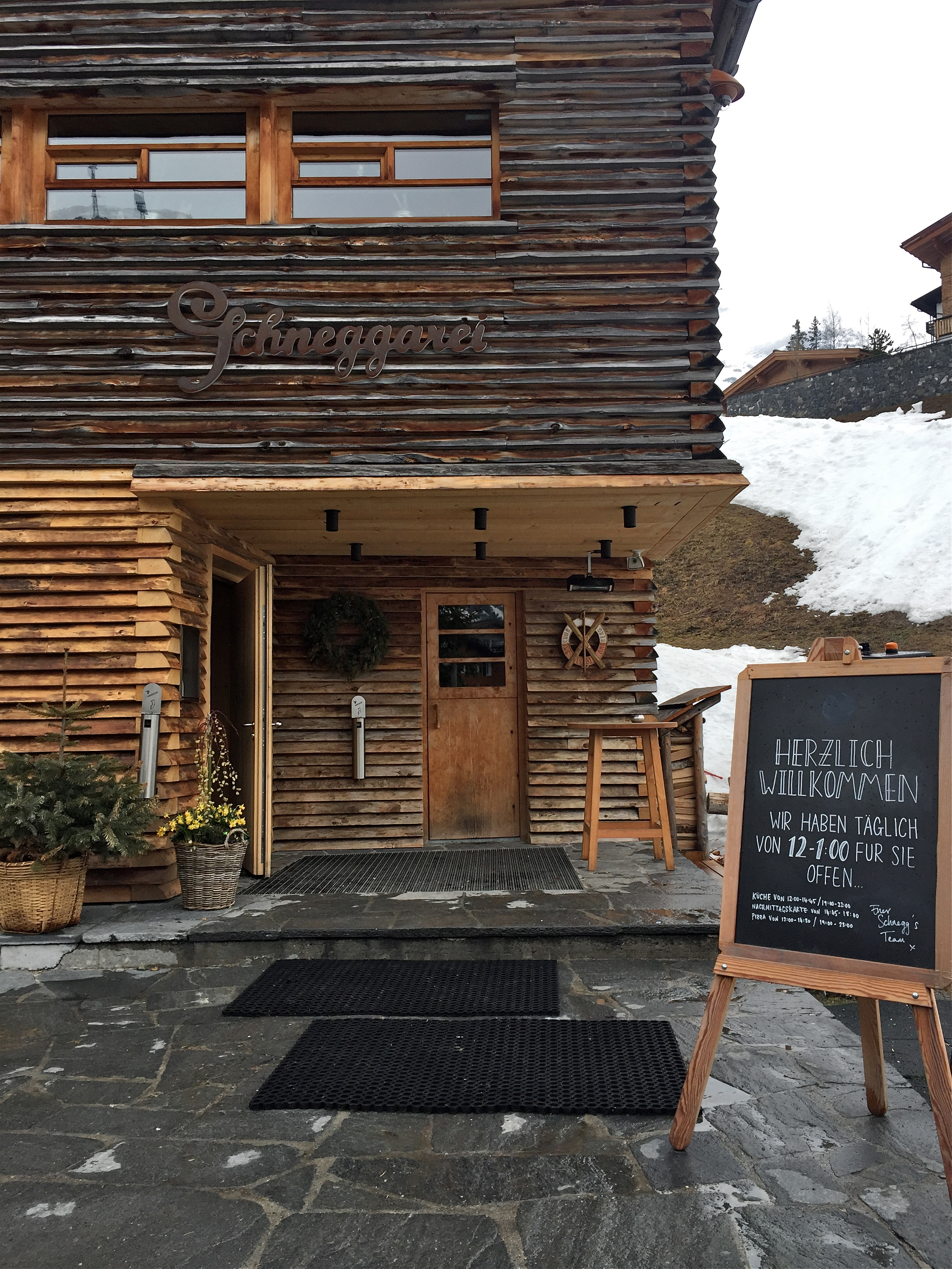 Yummy lunch.Schneggarei, Lech, Austria.
