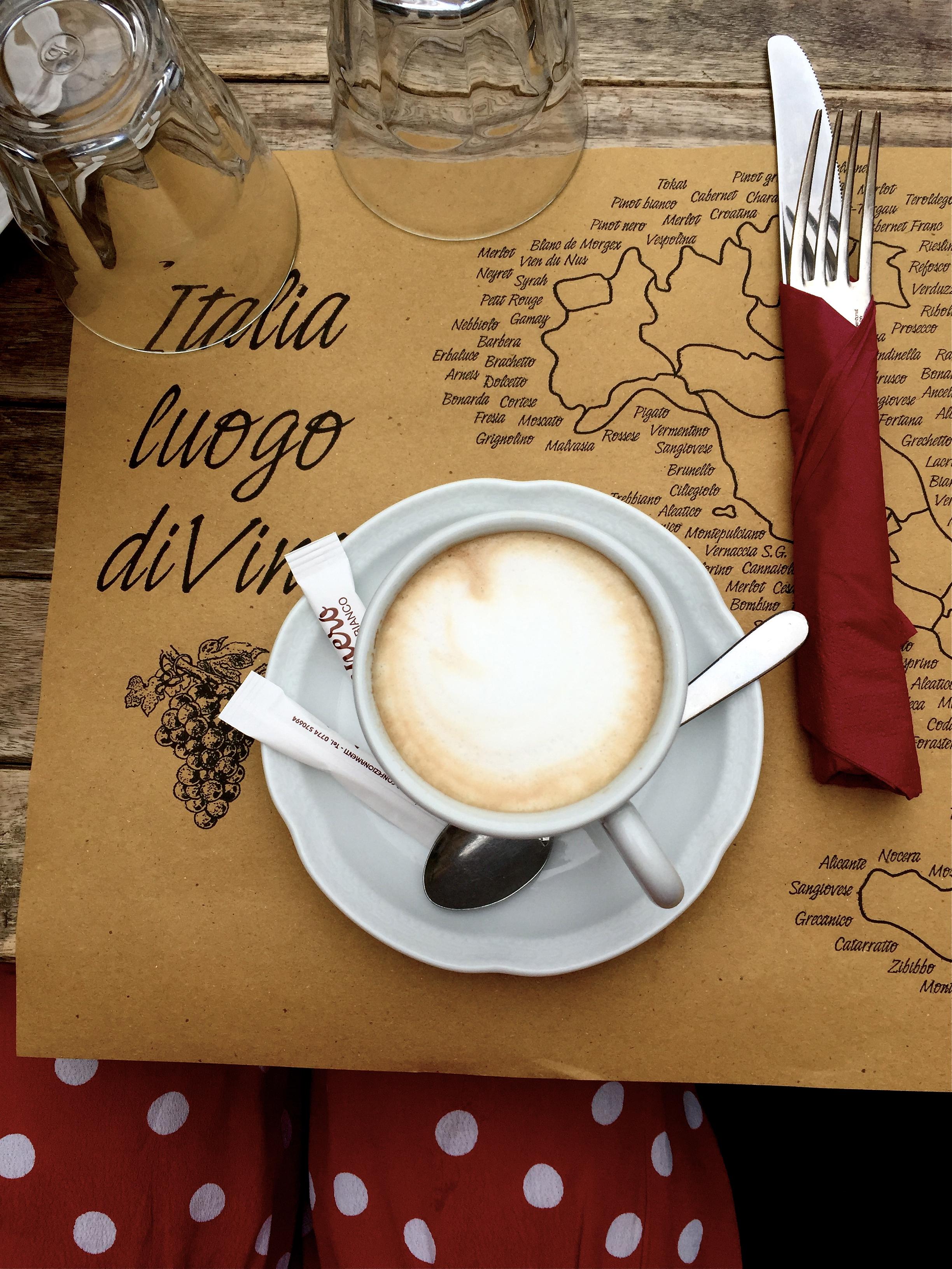 Cappuccino, Rome, Italy.