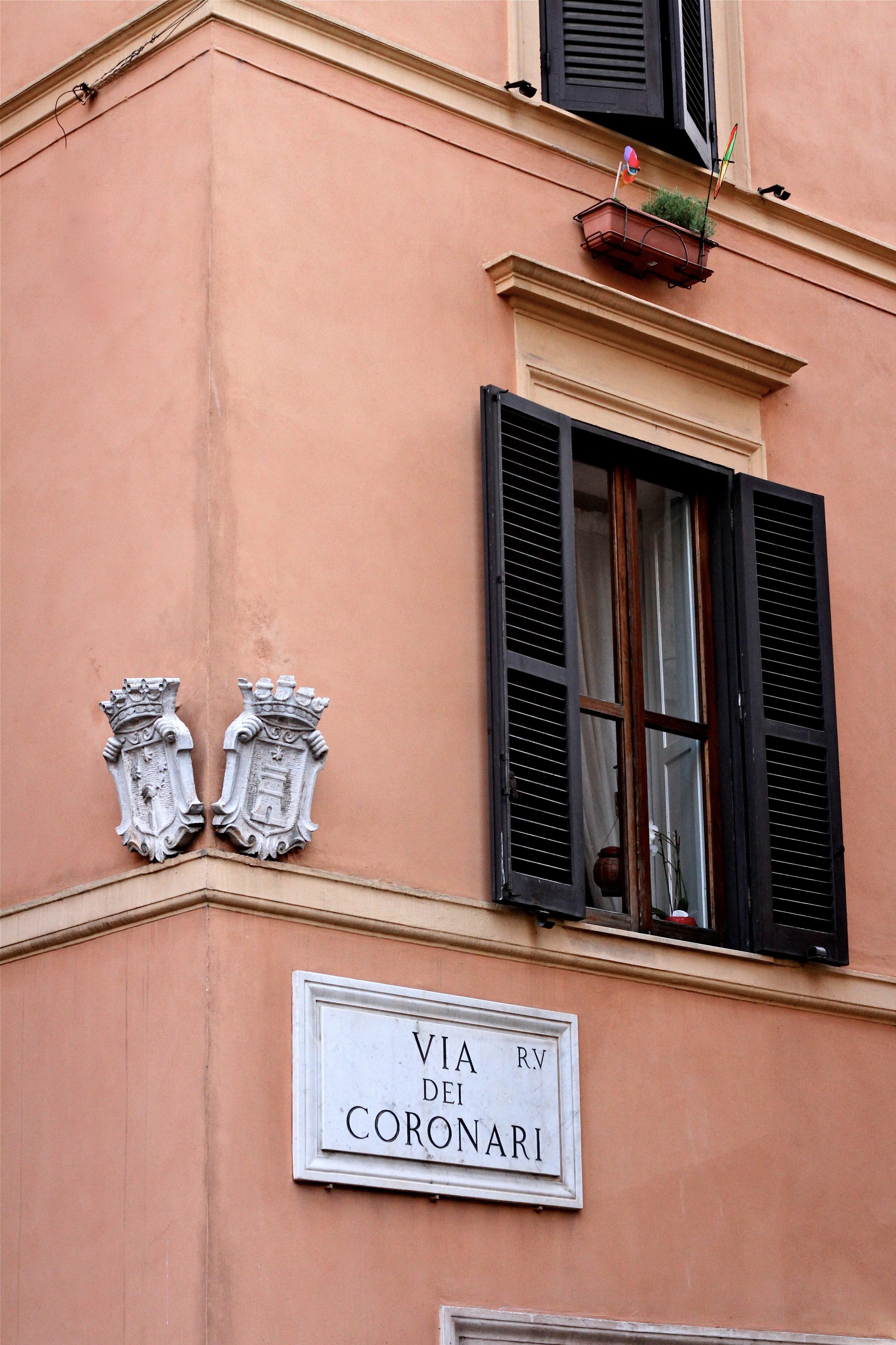 Via dei Coronari, Rome, Italy.