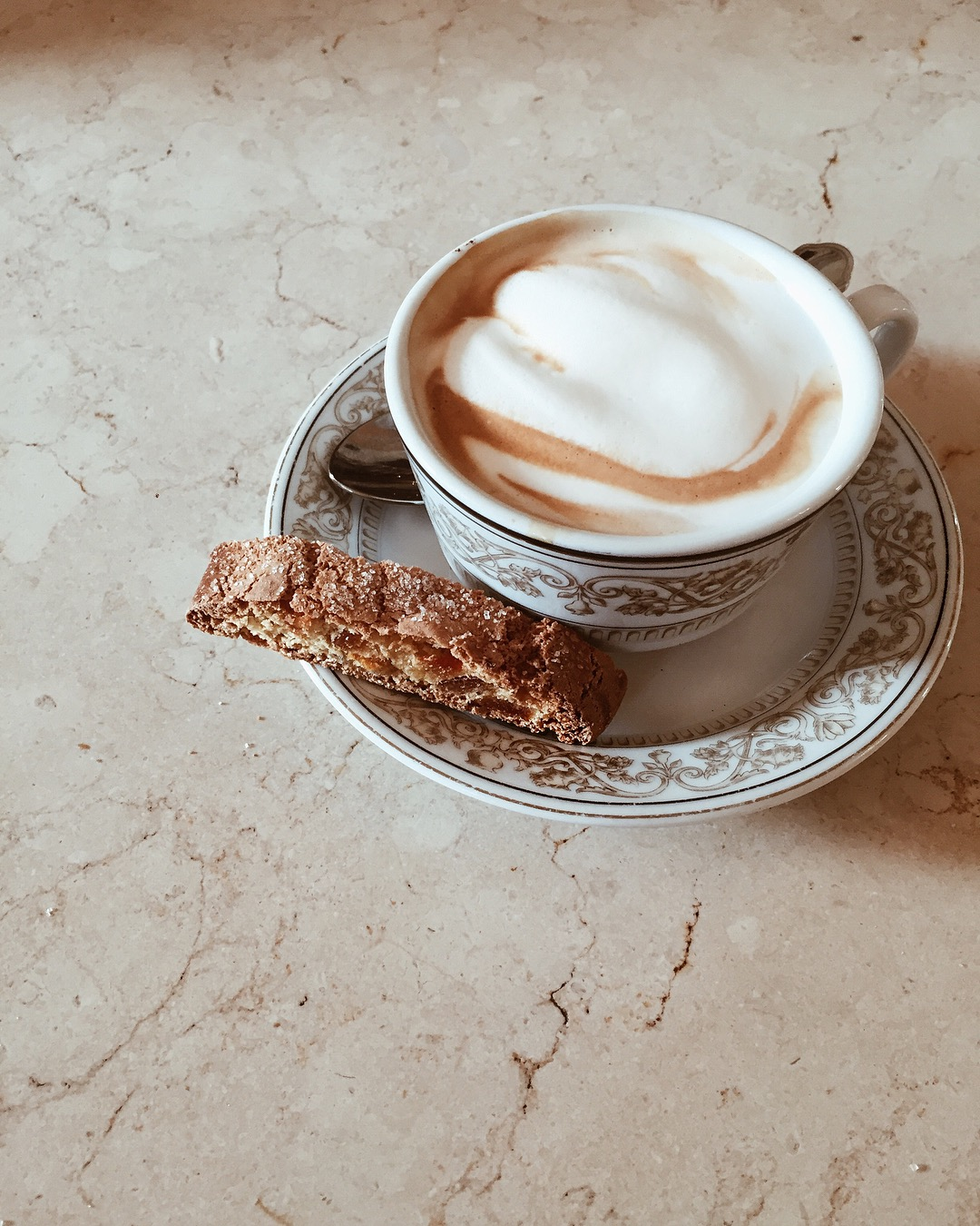 Cappuccino at Caffe Scudieri, Florence, Italy