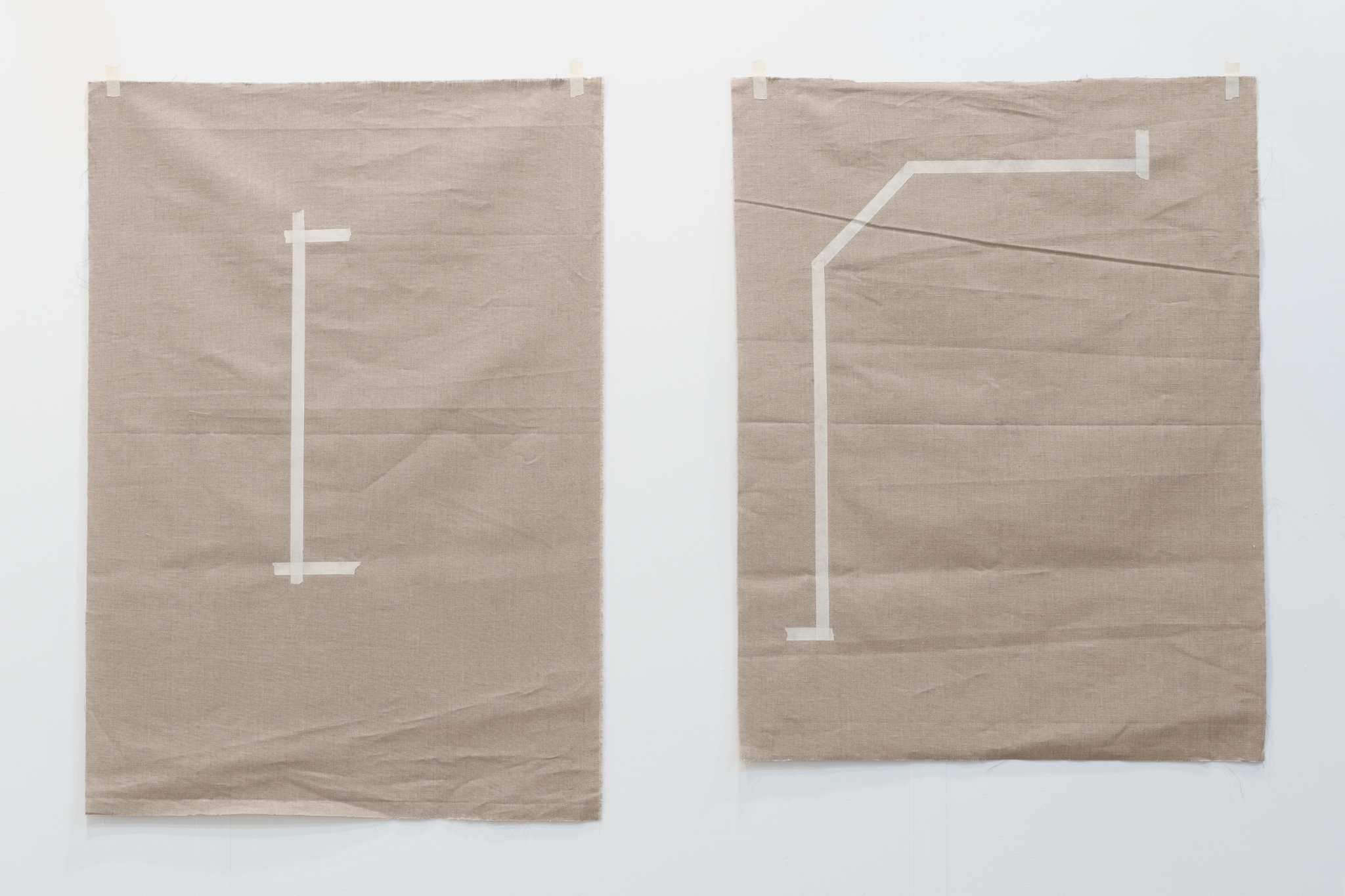 Saúl Sánchez, One After the Other , 2017. Oil, acrlylic on linen, dimensions variable.
