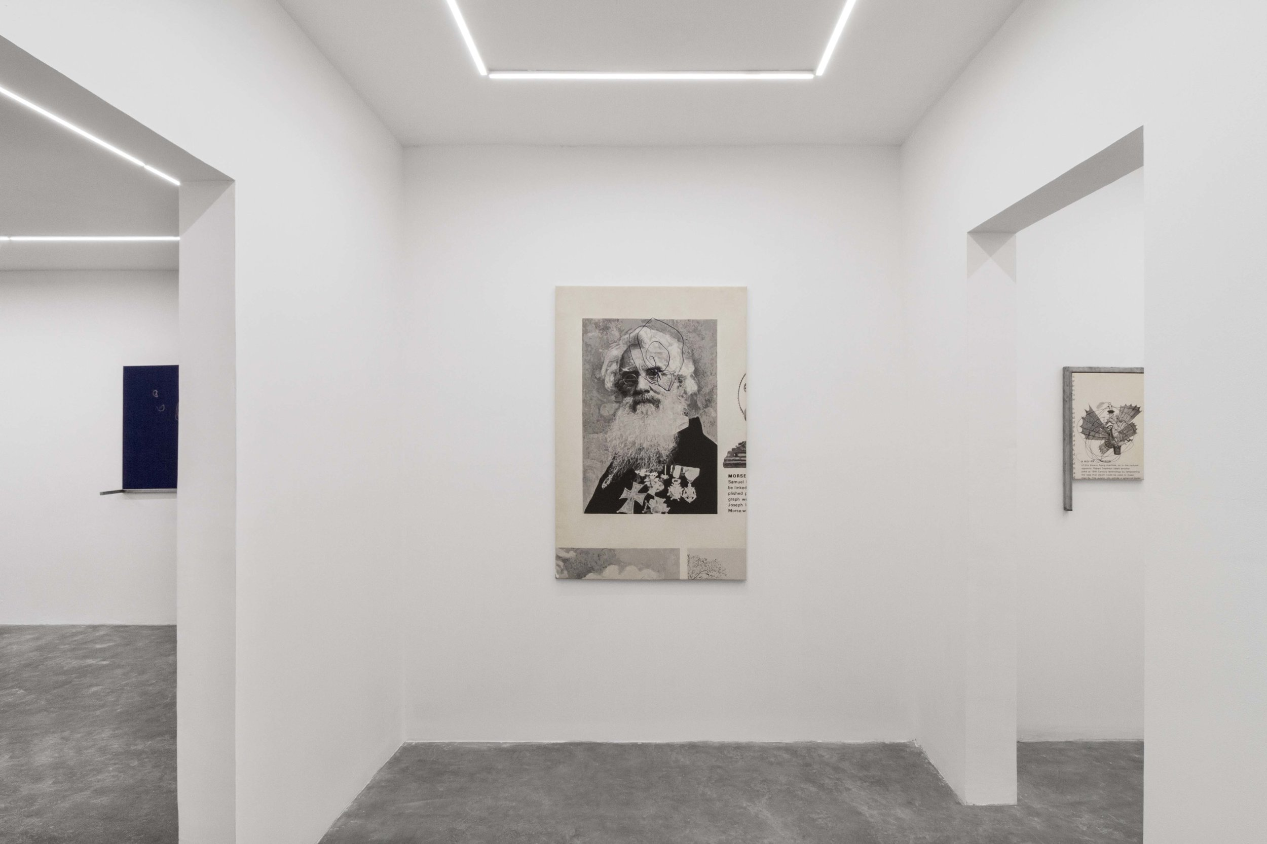 Installation view from  Saúl Sánchez: Painting and Invention,  2018.
