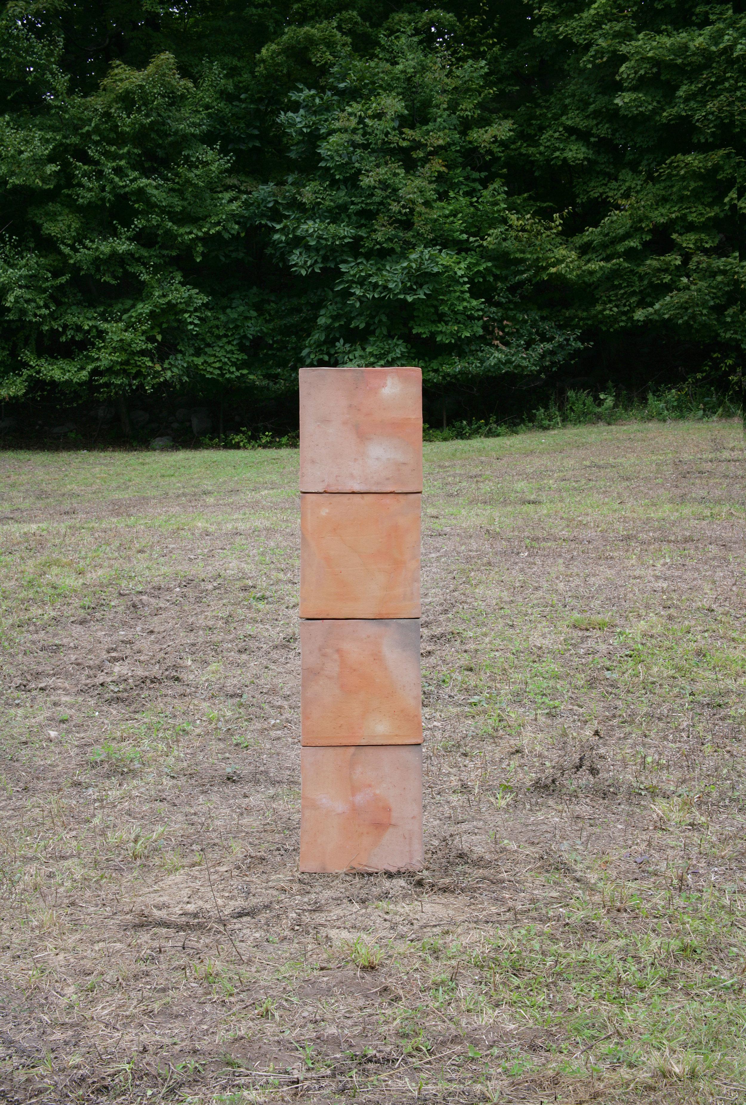 Bosco Sodi,   Untitled,  2017. Clay, 150 x 37 x 37 cm. (59 x 14.7 x 14.7 in.)