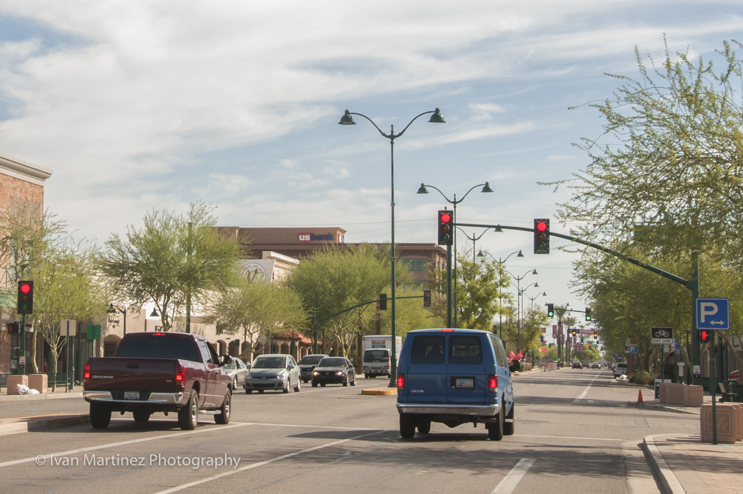 Downtown Mesa October 2012. Near corner of Main and Robson