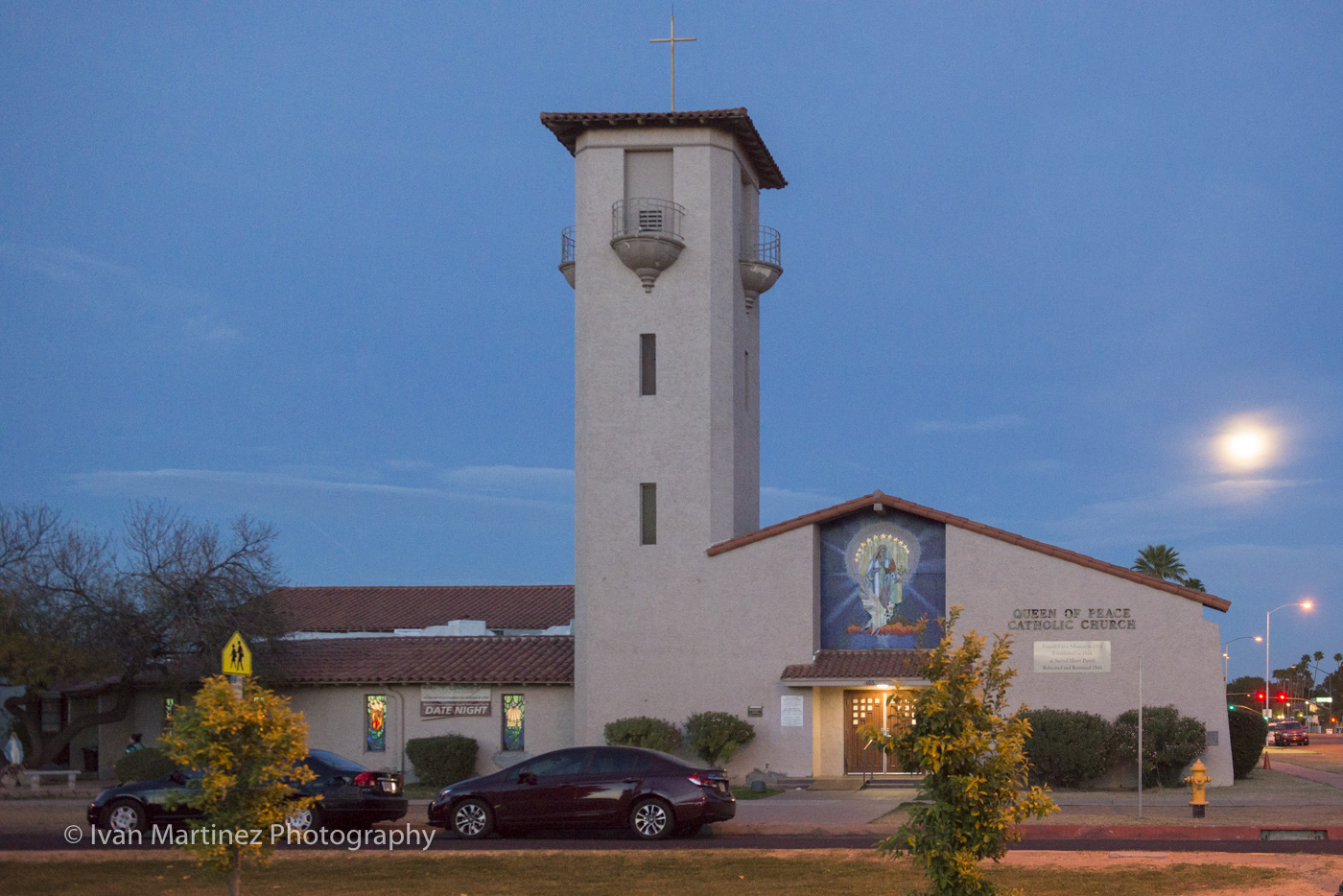 Queen of Peace Catholic Church. Down Town Mesa. Photo by Ivan Martinez Photography
