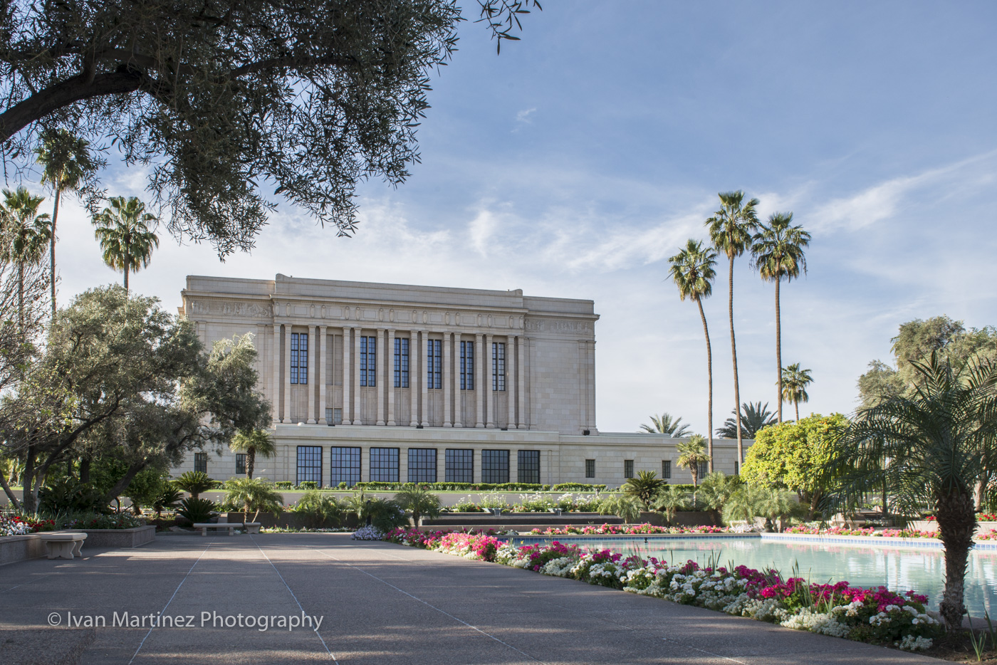 Mesa LDS Temple. Photo by Ivan Martinez Photography.