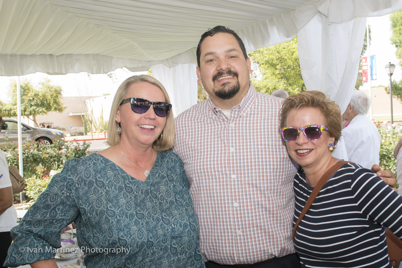 Councilmember Francisco Heredia  with Participants at the Mesa Community College Rose Garden Tea Event