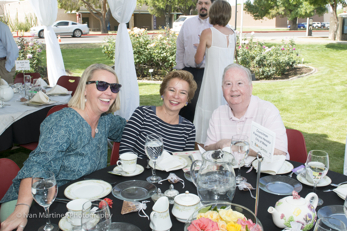 Councilmember Dennis Kavannaugh with participants at the Mesa Community College Rose Garden Tea Event