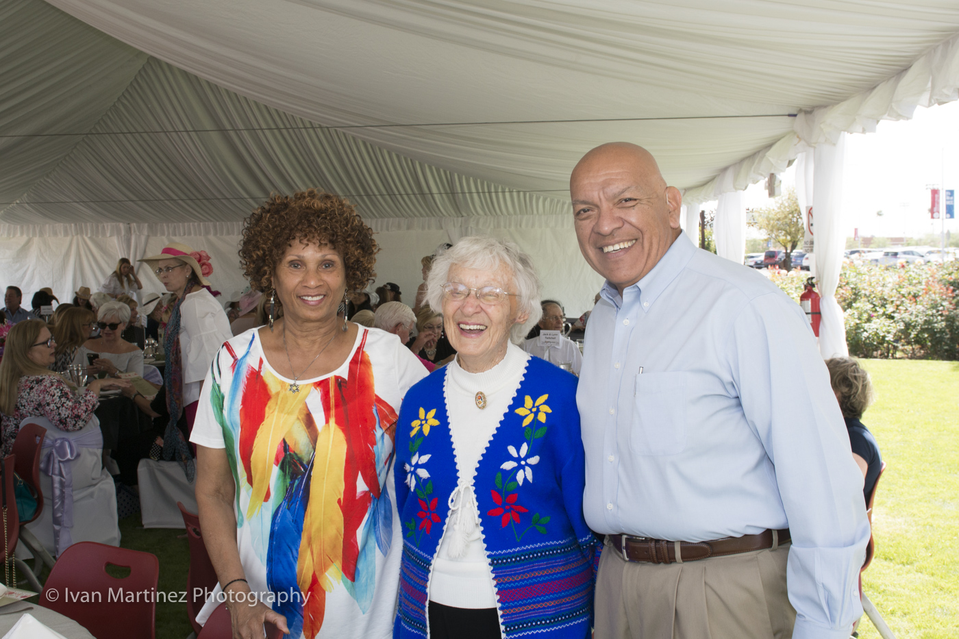 Participants at the Mesa Community College Rose Garden Tea Event