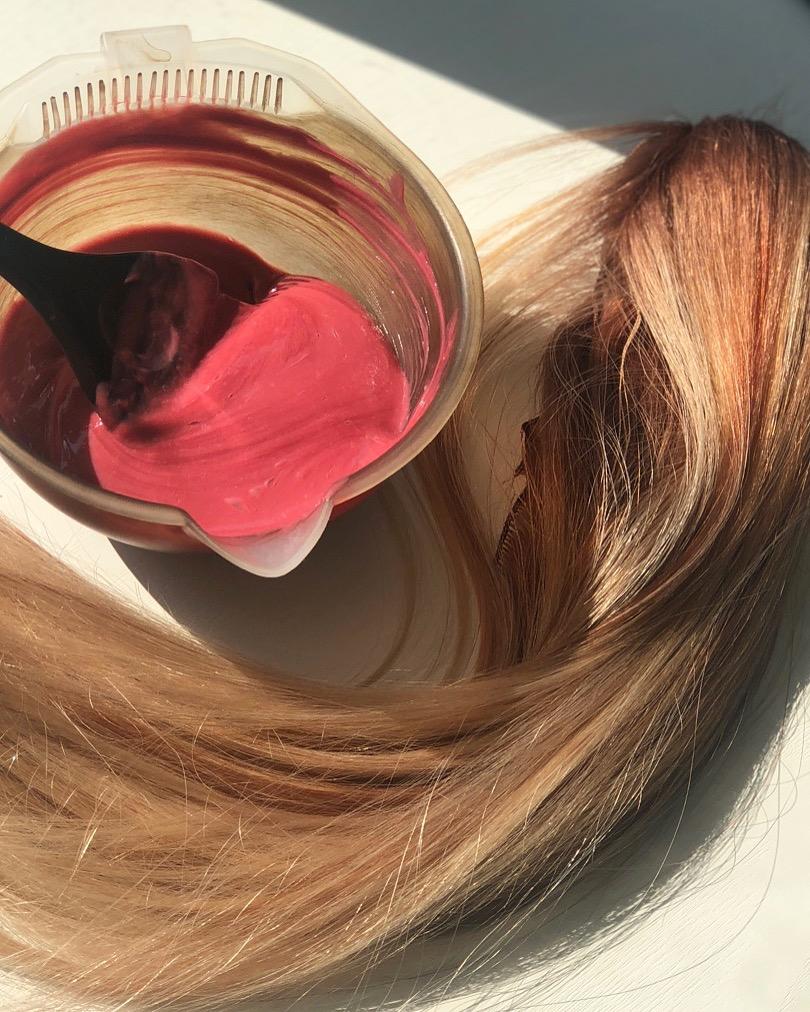 Preparing hair for Sarah's NBR installation