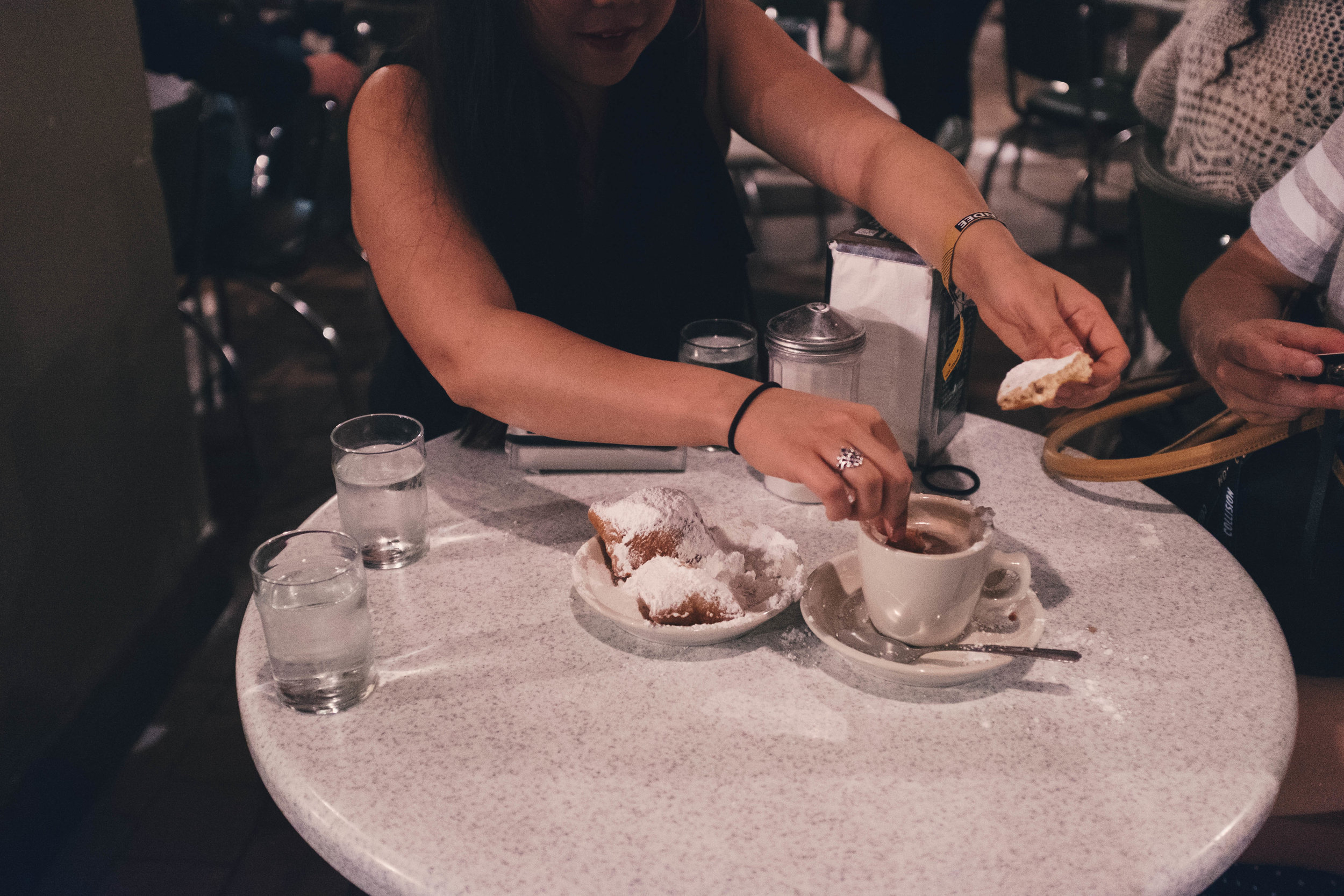 Late-night beignets after drinking all of the 'hurricane' drinks is a must! (Skip the hurricanes though).