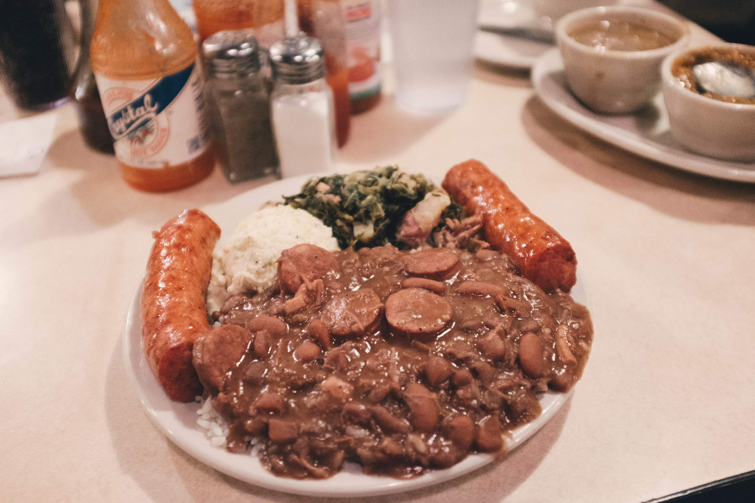 Cajun fare wasn't my favorite, but this red beans and rice with sausage was quite an experience.