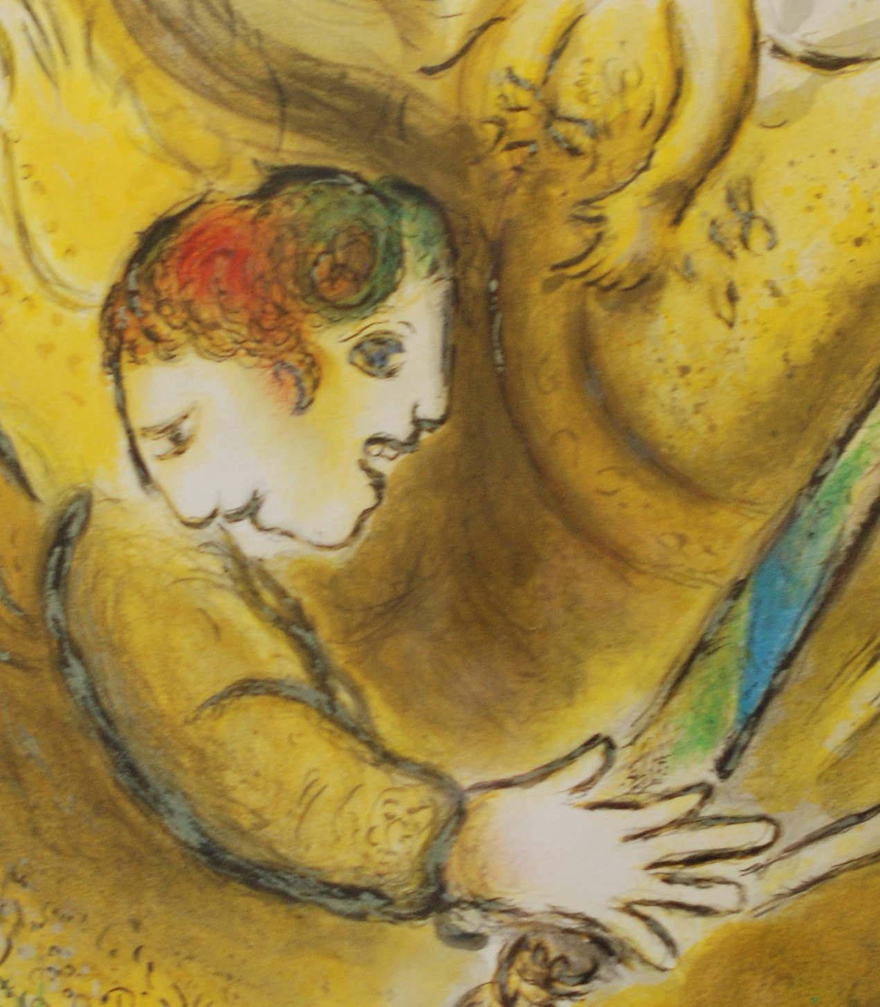 """Marc Chagall, 1887-1985  """"The Angel of Judgement"""" (detail)"""