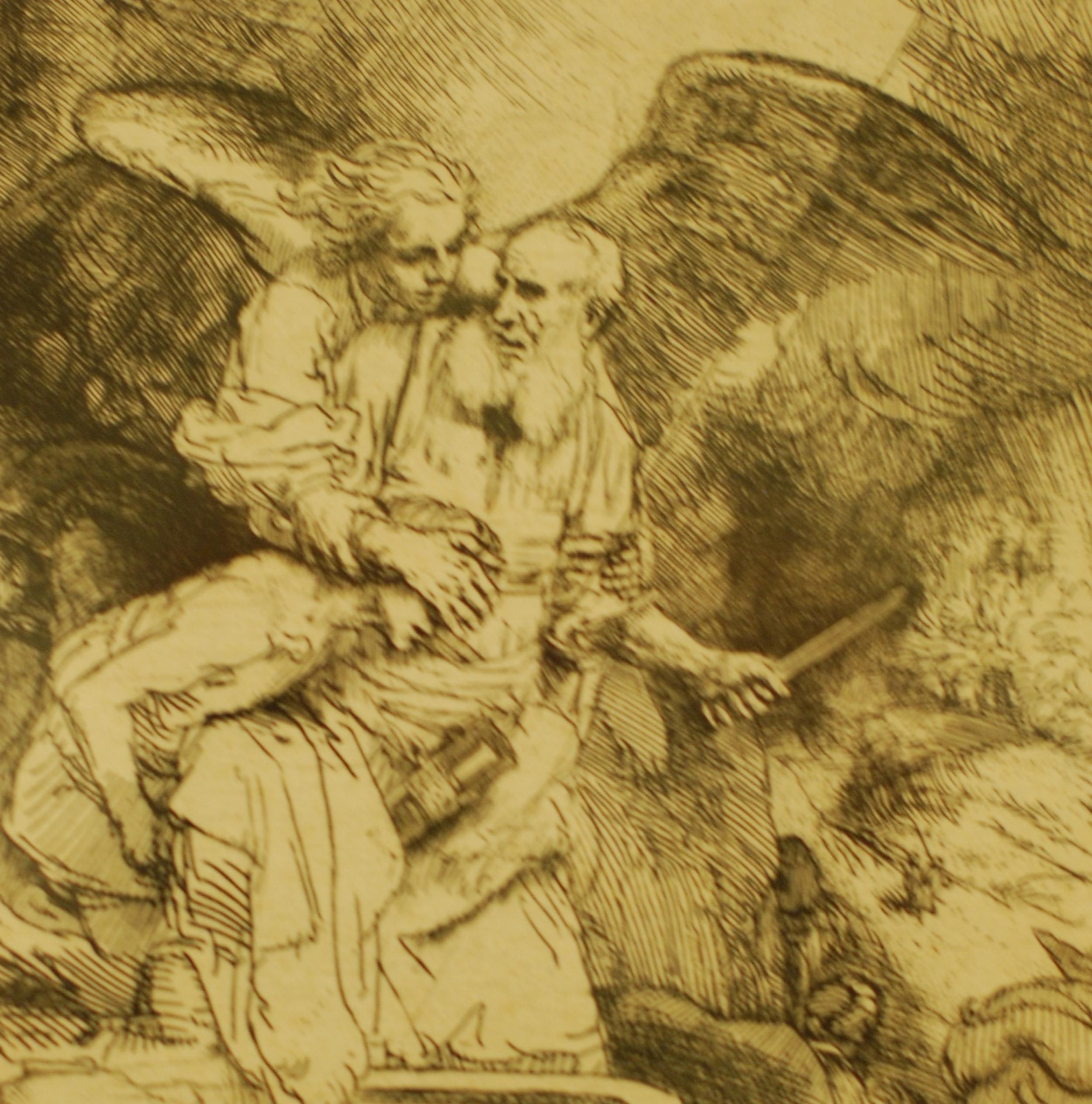 "Rembrandt Harmenszoon Van Rijn, 1606-1669  ""Abraham's Sacrifice"" (detail)"