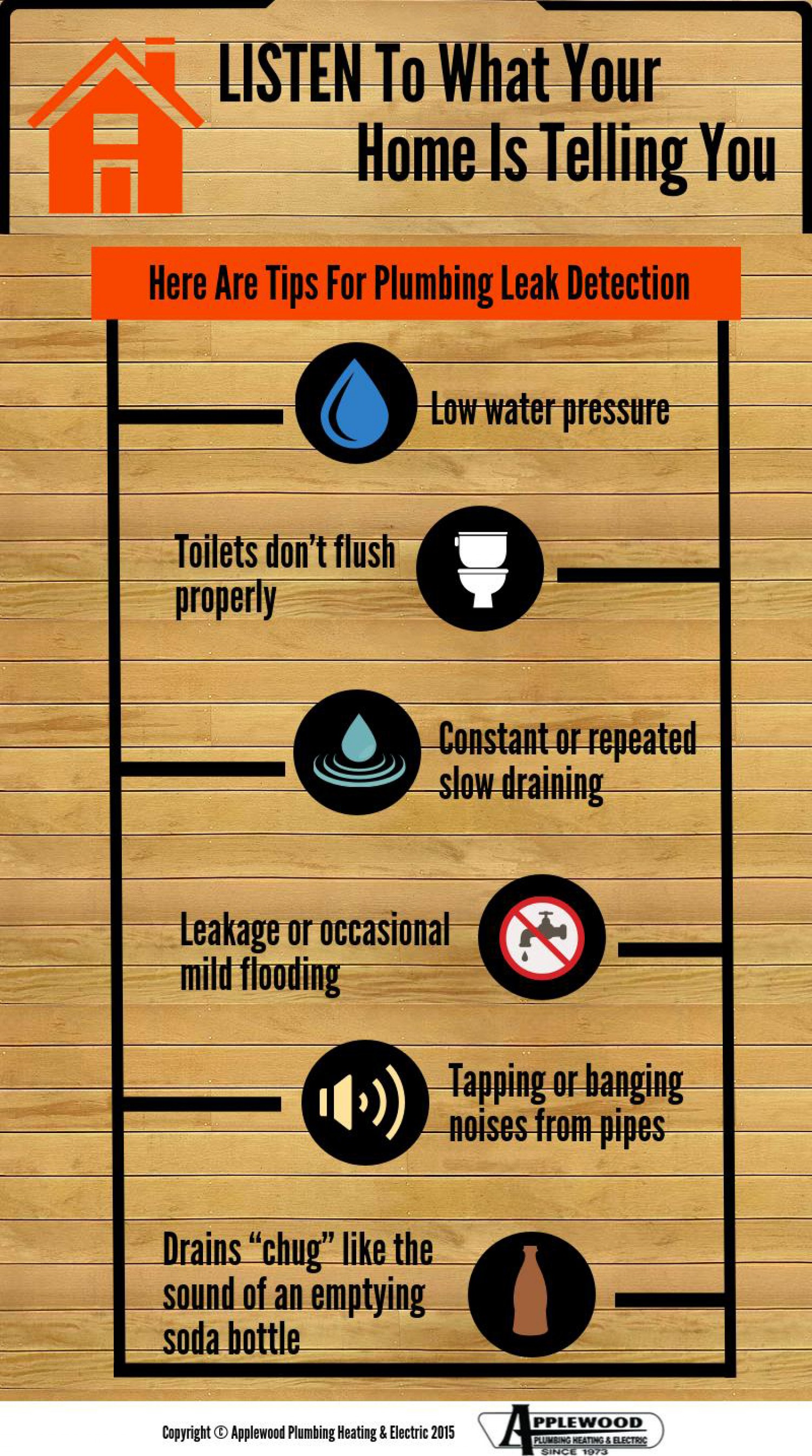 Tips for plumbing leak detection! If you have a plumbing leak please shut off your water and call us immediately or use the app to schedule a plumbing service. The app will send it straight to our plumbers!