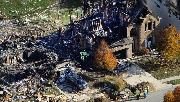 Natural gas-fueled appliance home explosion in Indiana