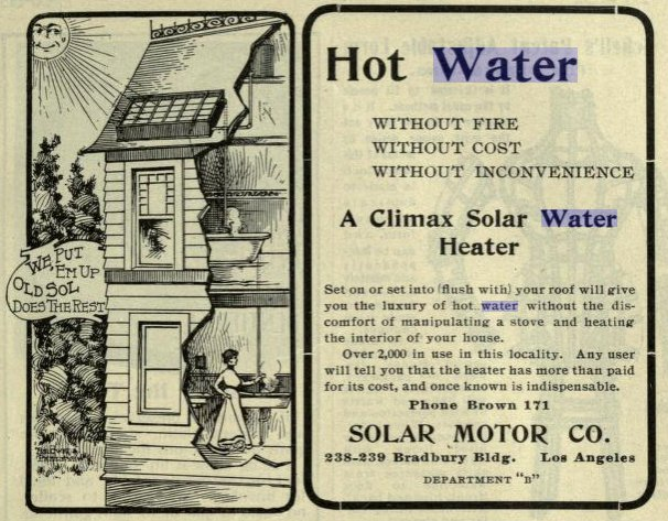 antique hot water heater ad