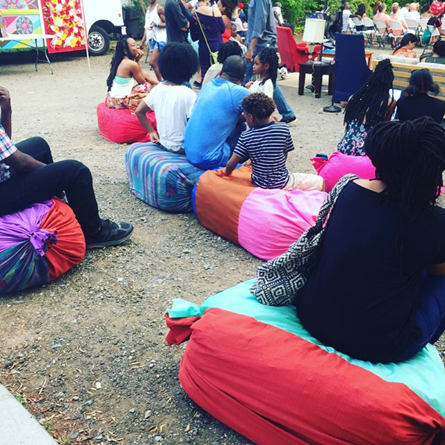 It was a great weekend at #boomclt. We had fun making these temporary seats for the crowd.
