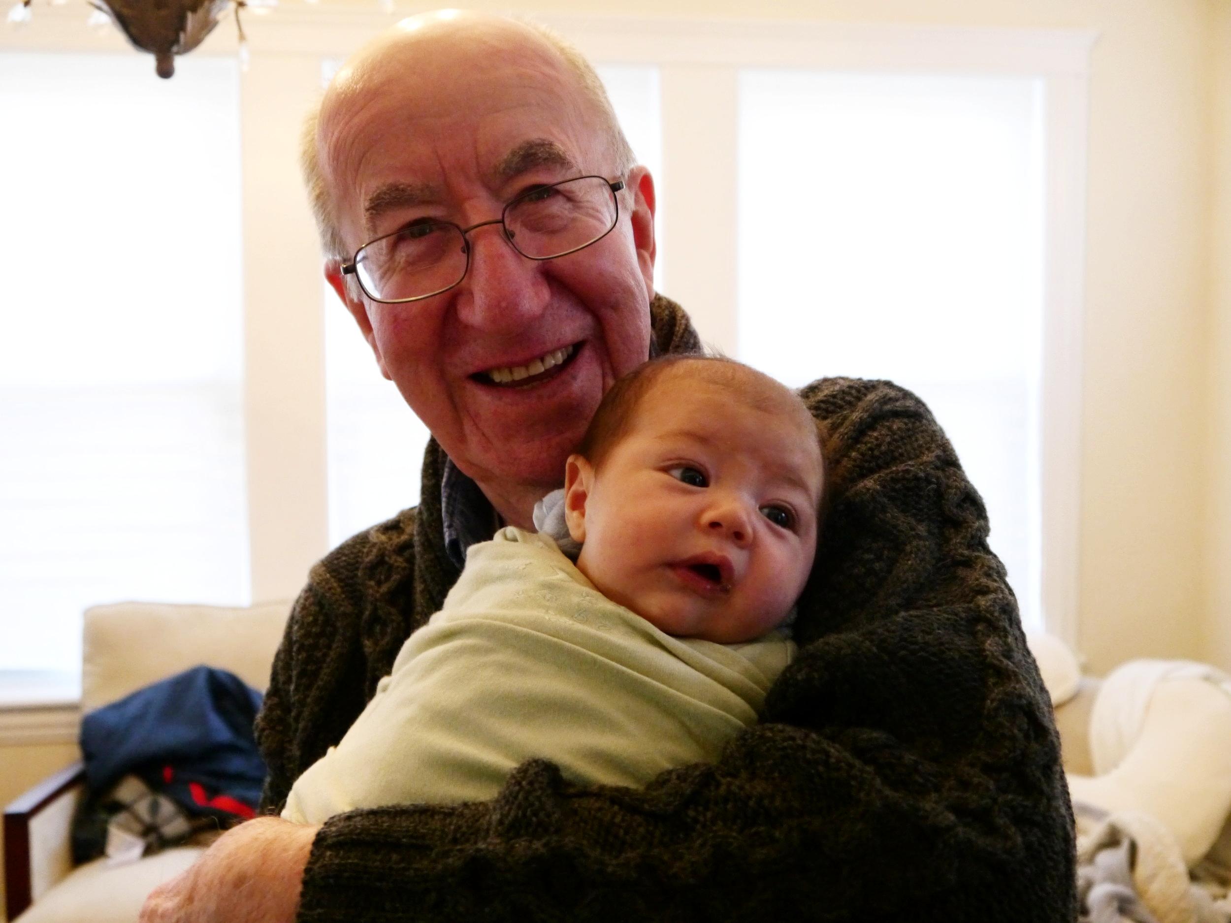 Grandpa and (baby) Isla