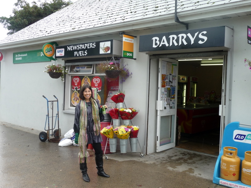 Outside of Paul's Family's store in County Louth