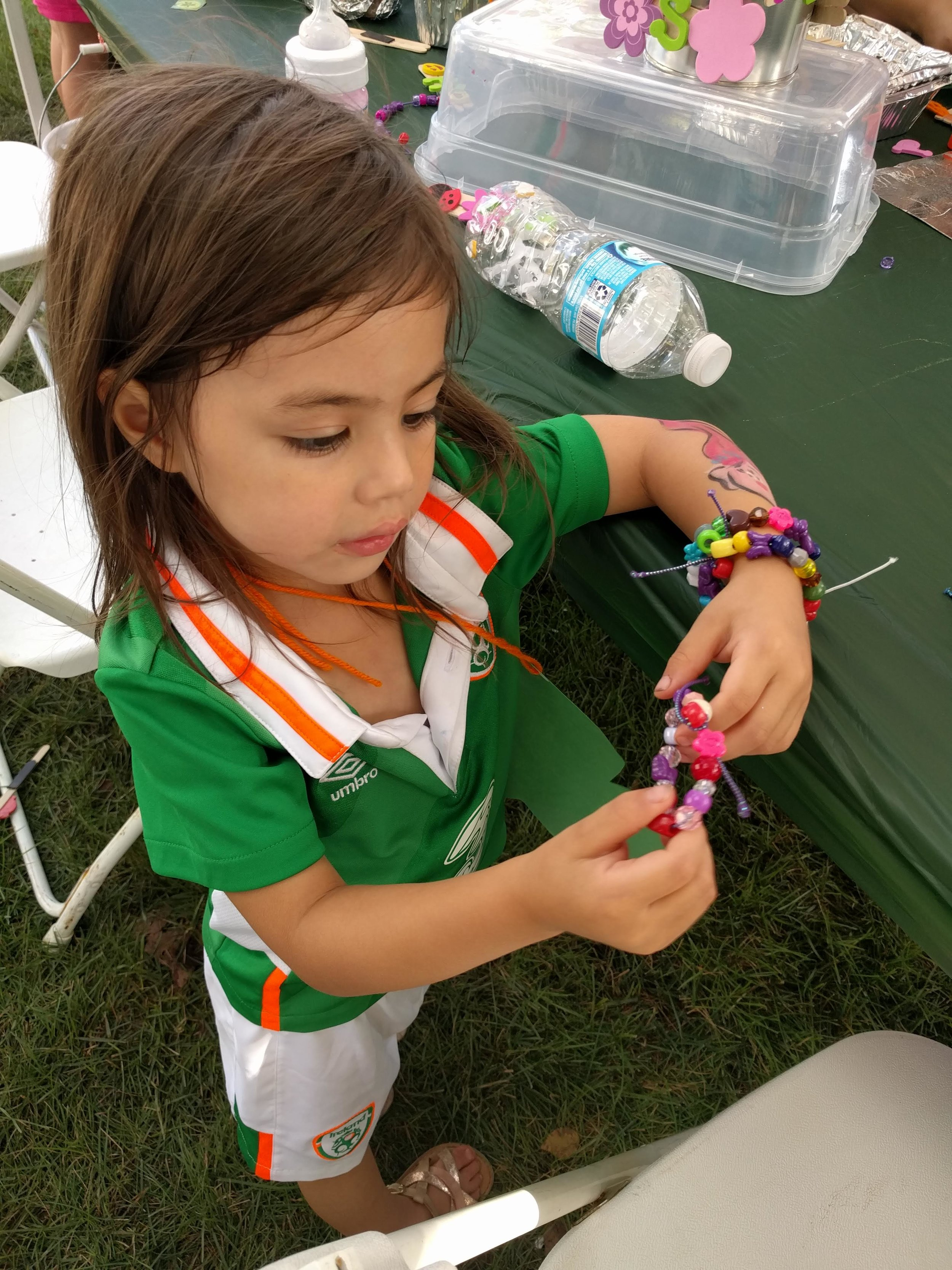 Bracelets at the craft table were a huge hit!