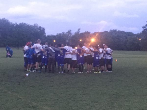 Post-game spirit circle