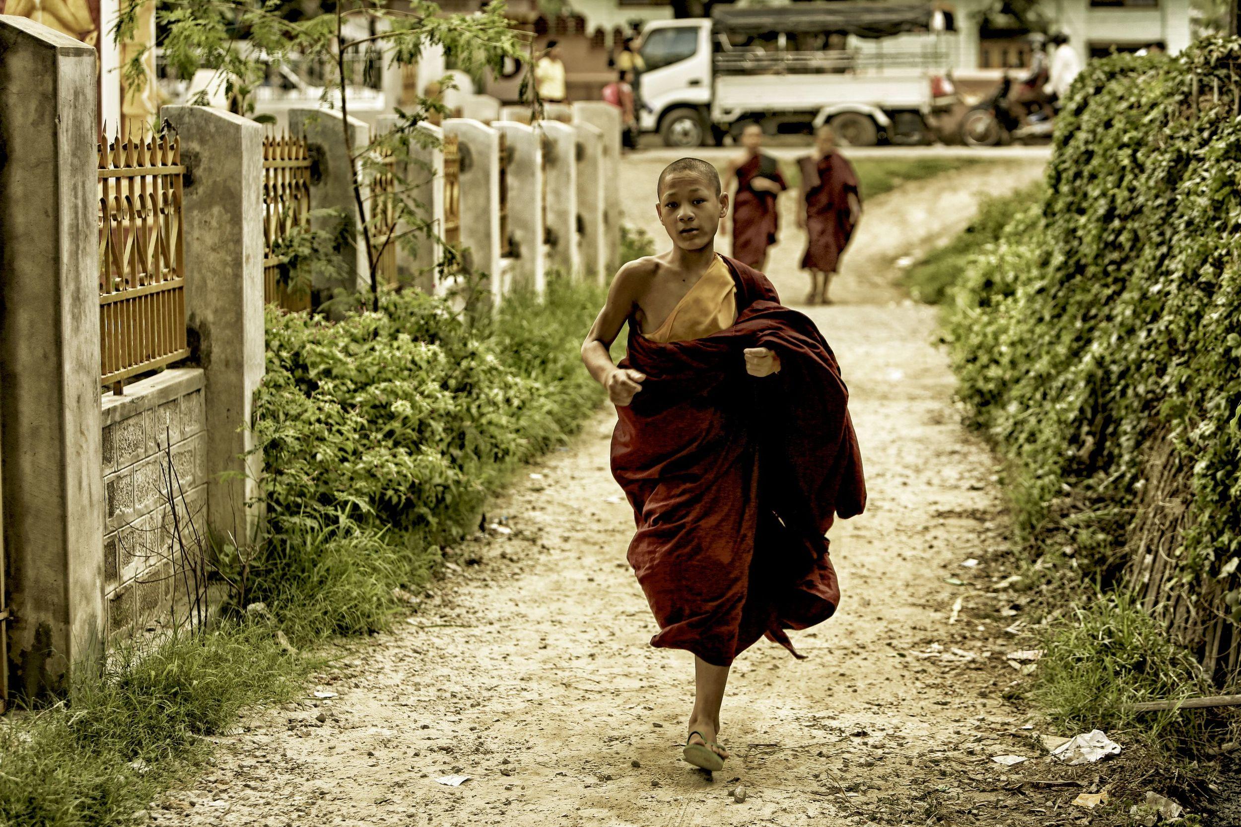 Monk in Alley.JPG