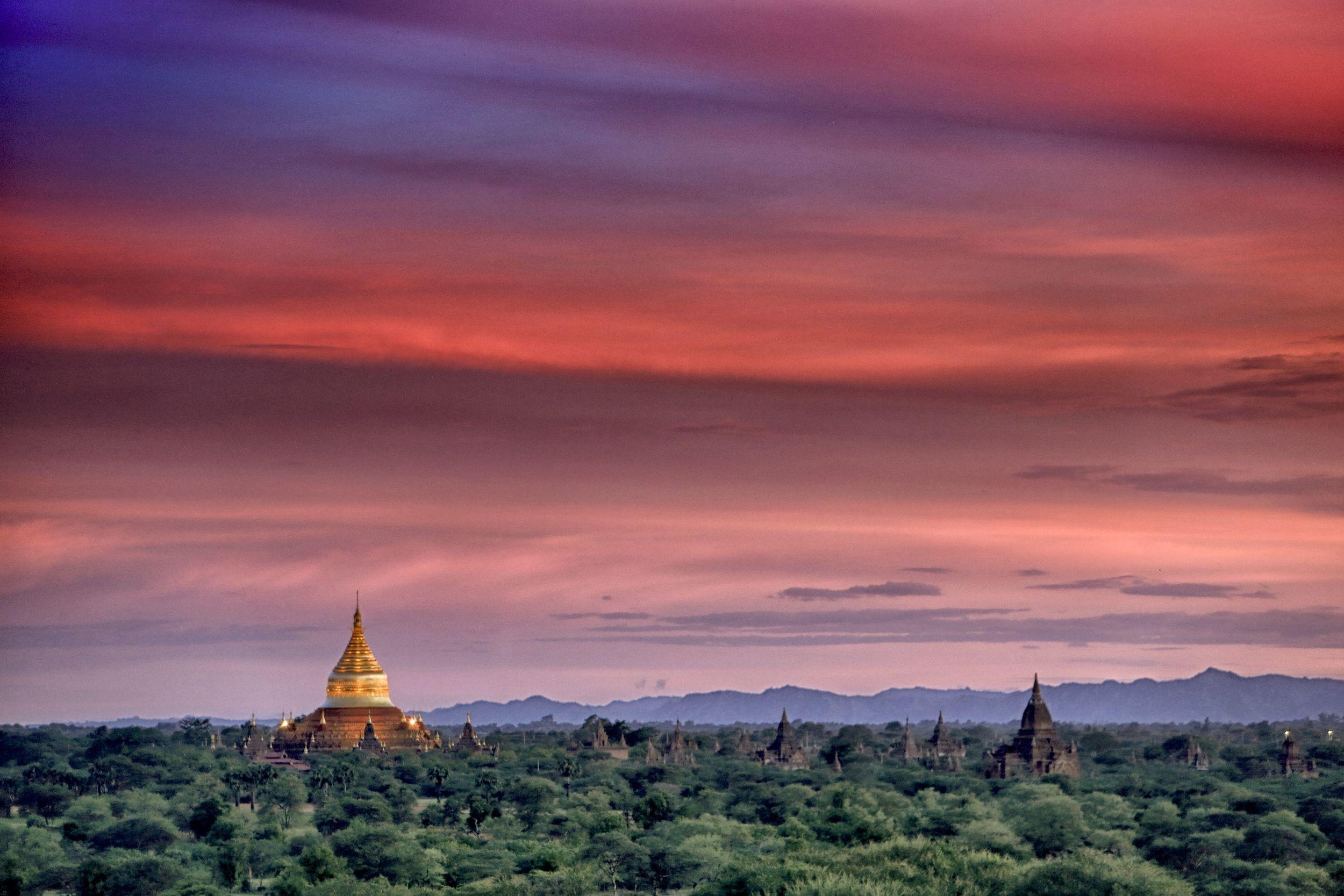 Sunset Bagan, Myanmar, 2016