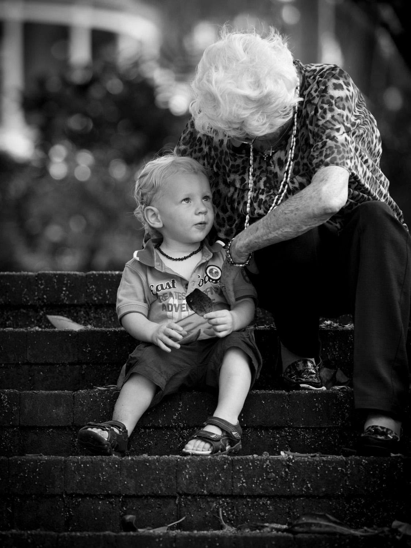 grand mother child portrait