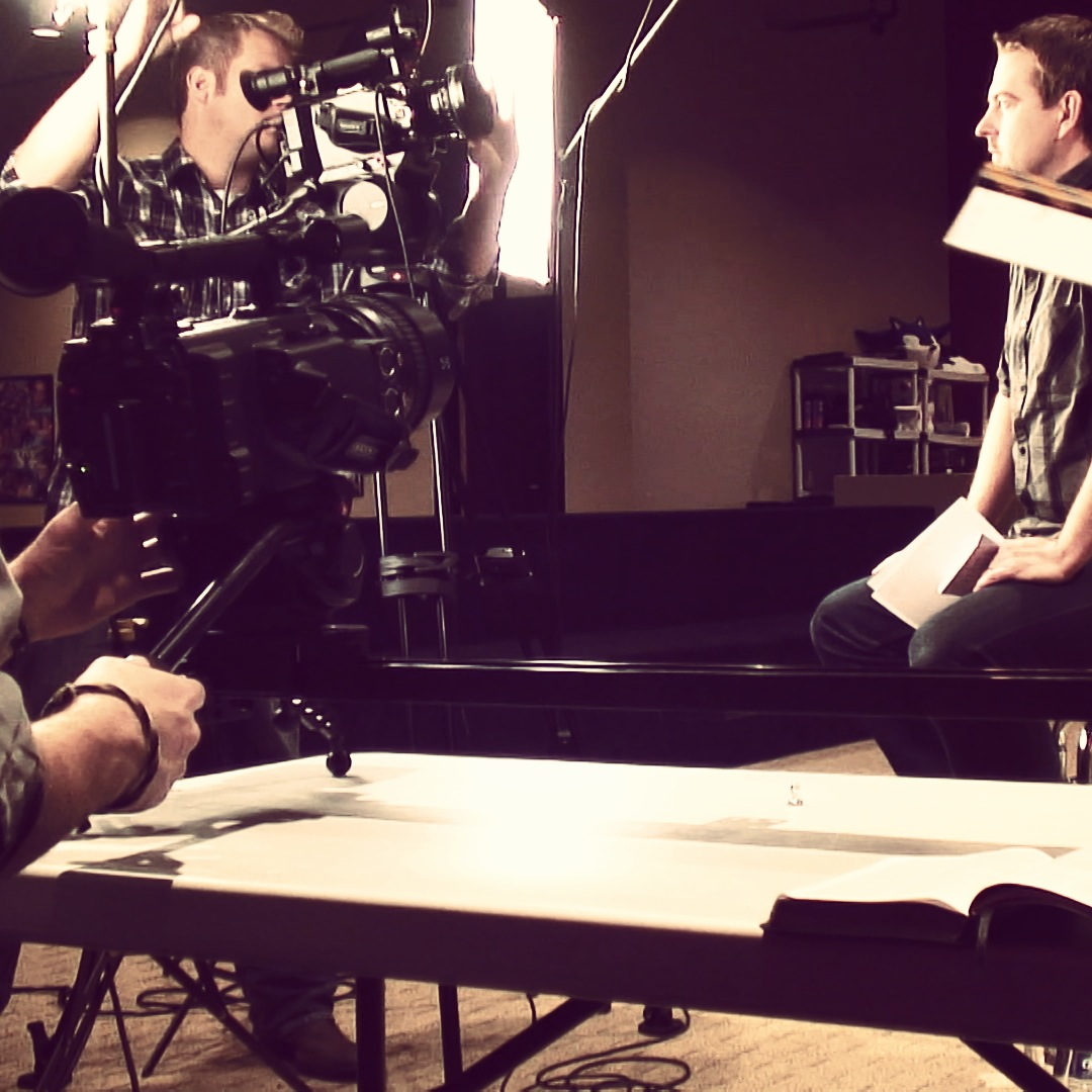 Cool shot of both our Sony PMW-F3 cameras shooting from straight on and side angles.