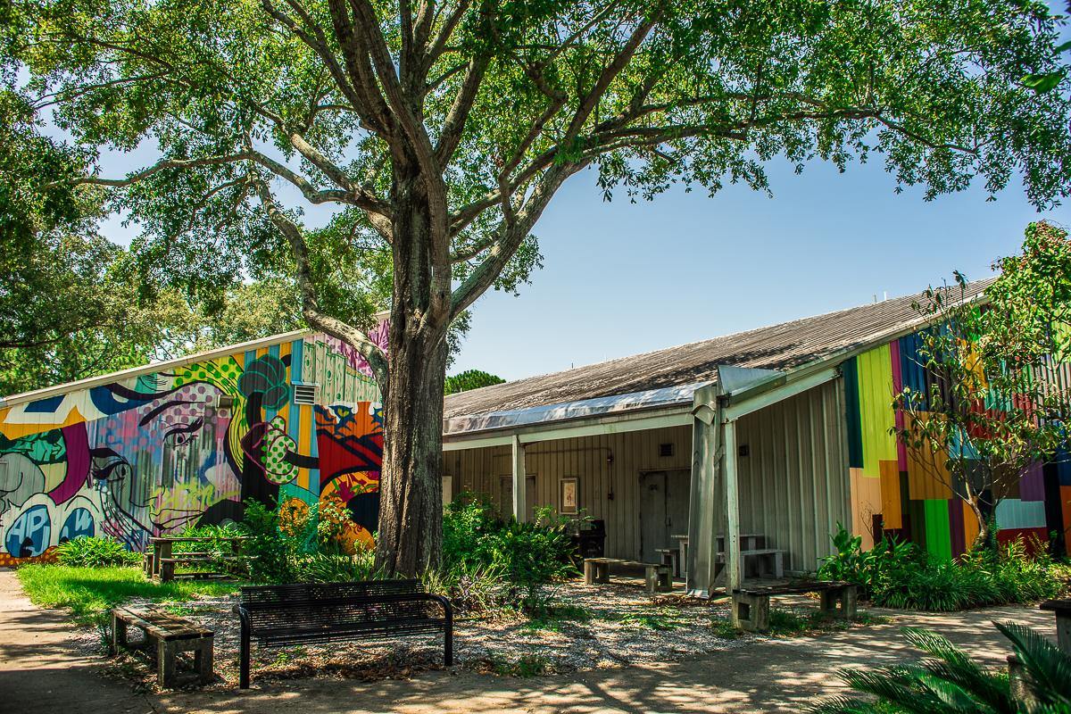 Murals at The University of New Orleans Fine Arts building.
