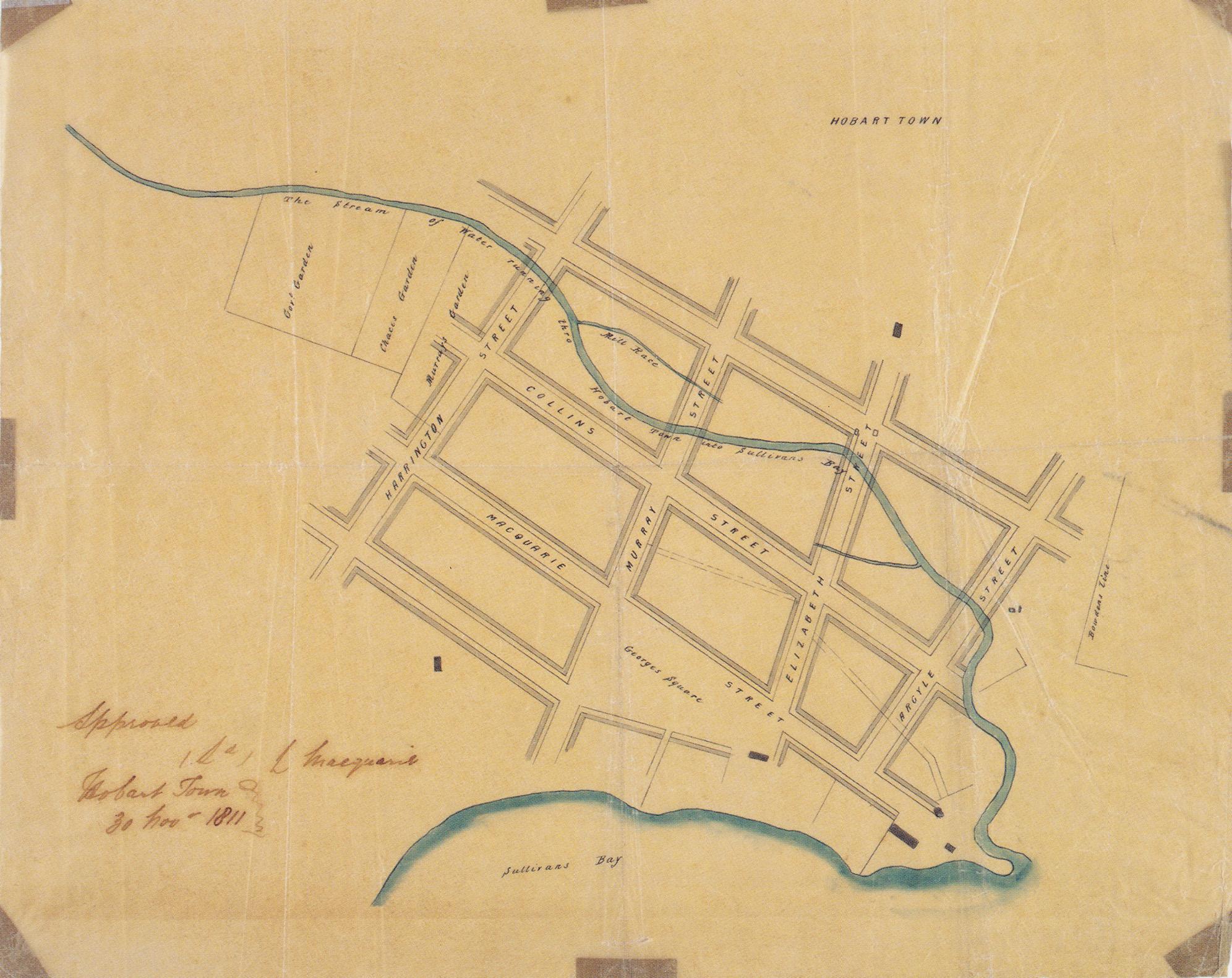 Plan of Hobart Town 1811 – James Meehan