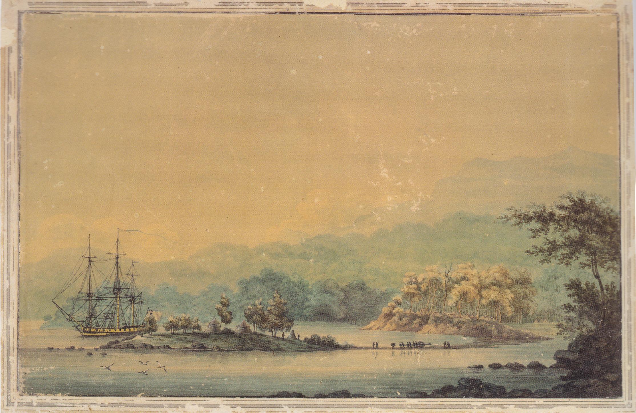 View of Sullivan's Cove 1804 – Artist Unknown
