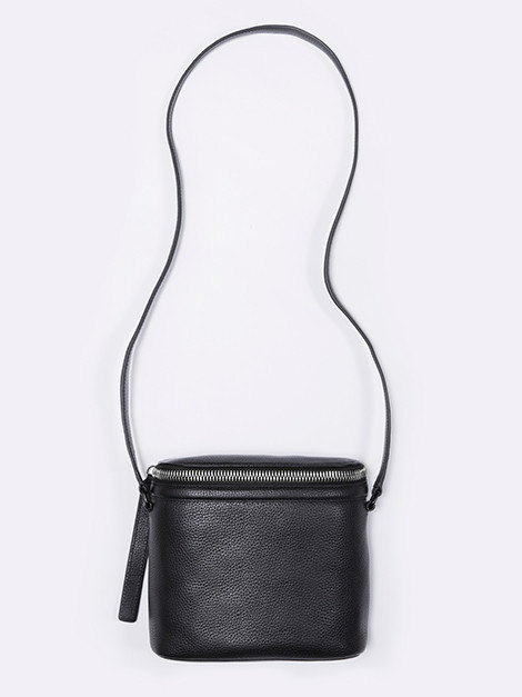 Kara Large Stowaway Bag in Black Pebble Leather