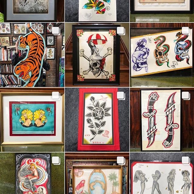 Last day to go to @dekonstructiv and make a bid on some great art! Go check it out! I wouldn't even mind if you went and bought mine, swipe right to check out my submissions. Thanks for lookin! And thanks again @traderbobstattoo @madartgallery and @ahmed_tbobs for putting on a fun show!
