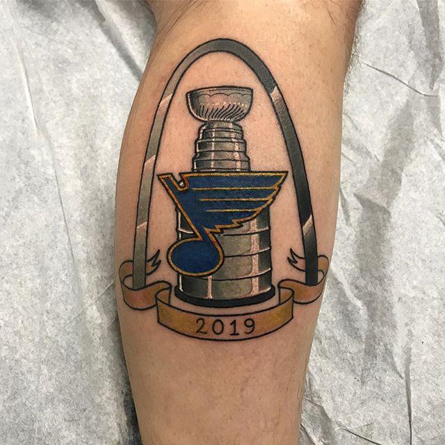 Gloria! #stl #stlouis #stlouisblues #stanleycup #gloria #champions #hockeytattoo #stanleycupchampions #tattoo #selfinflictedstpeters