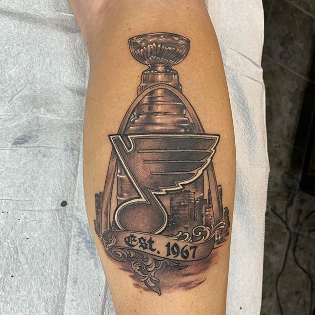 #stlouisblues #stanleycuptattoo thanks mike!