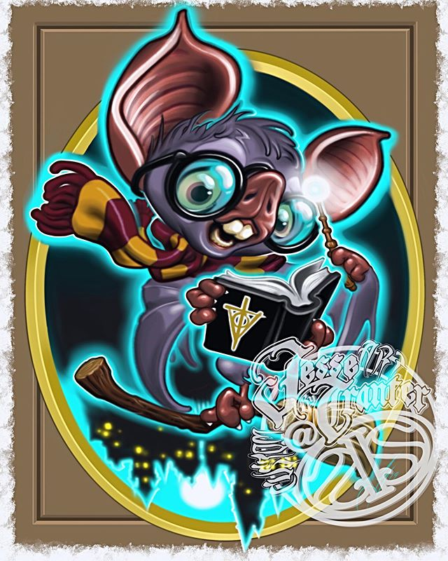 I know some of you are batty for #harrypotter this lil guy sure is #selfinflictedstudios #selfinflictedstpeters