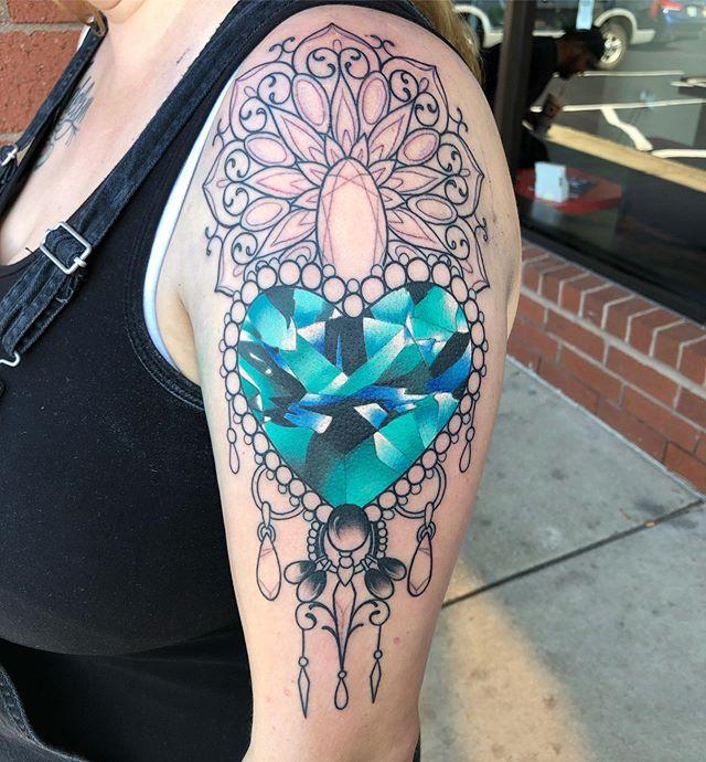Start to this heart gem mandala piece on my awesome client Tiffany! Thanks for lookin!  #inkjecta #flitev2 #needlejig #legacycartridges #kingpintattoosupply #stencilstuff #eternalink #girlswithtattoos #midwest #selfinflicted #mo #missouri #stpeters #illinois #alton #myalton #bestintheburbs #stl #stlouis #tattoo #colortattoo #tattoooftheday #womenwithtattoos #brightandbold #boldwillhold #bestintheburbs #mandala #gem #heart #saniderm