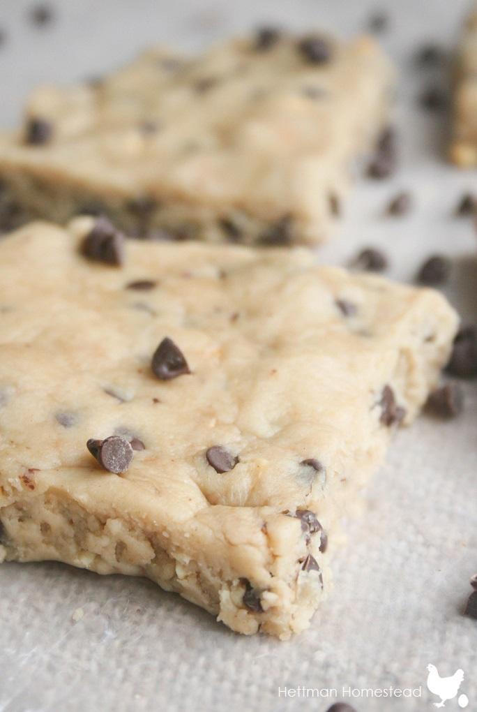 No Bake Healthy Cookie Dough Bars