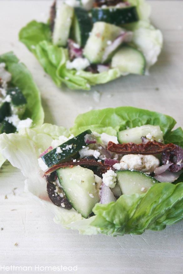 Mediterranean Lettuce Wraps