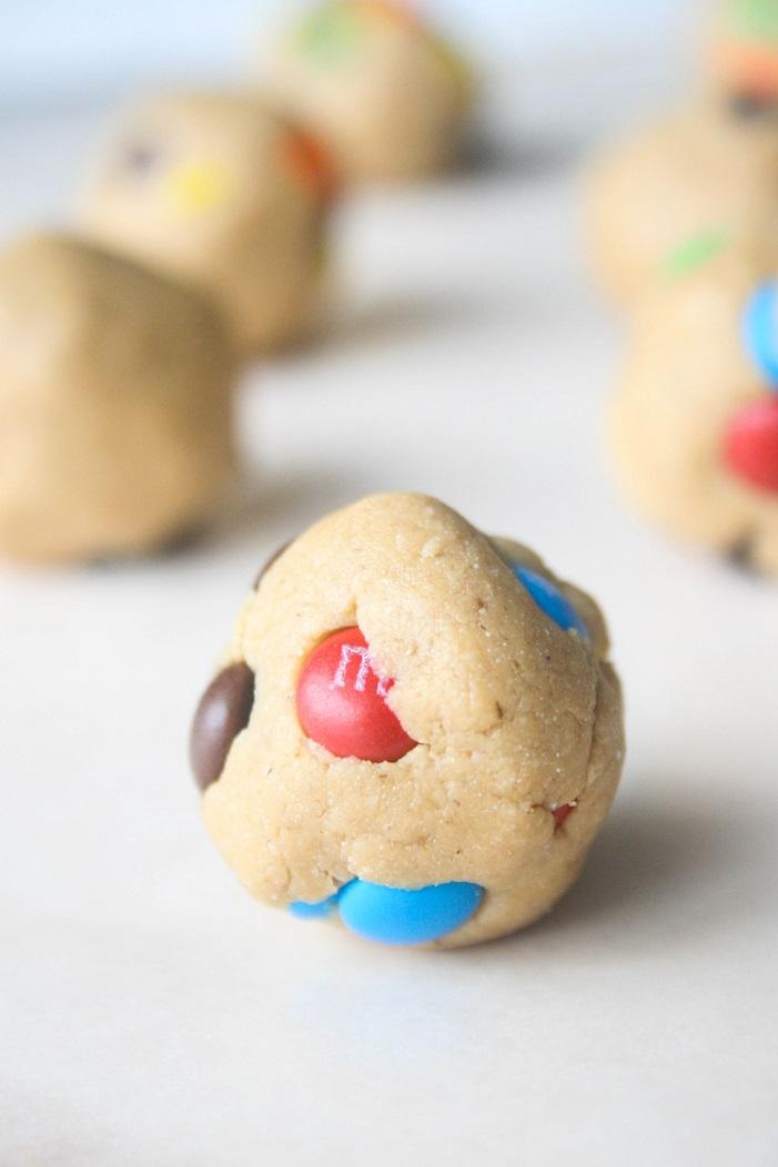 Easy No Bake Monster Cookie Protein Bites- Hettman Homestead