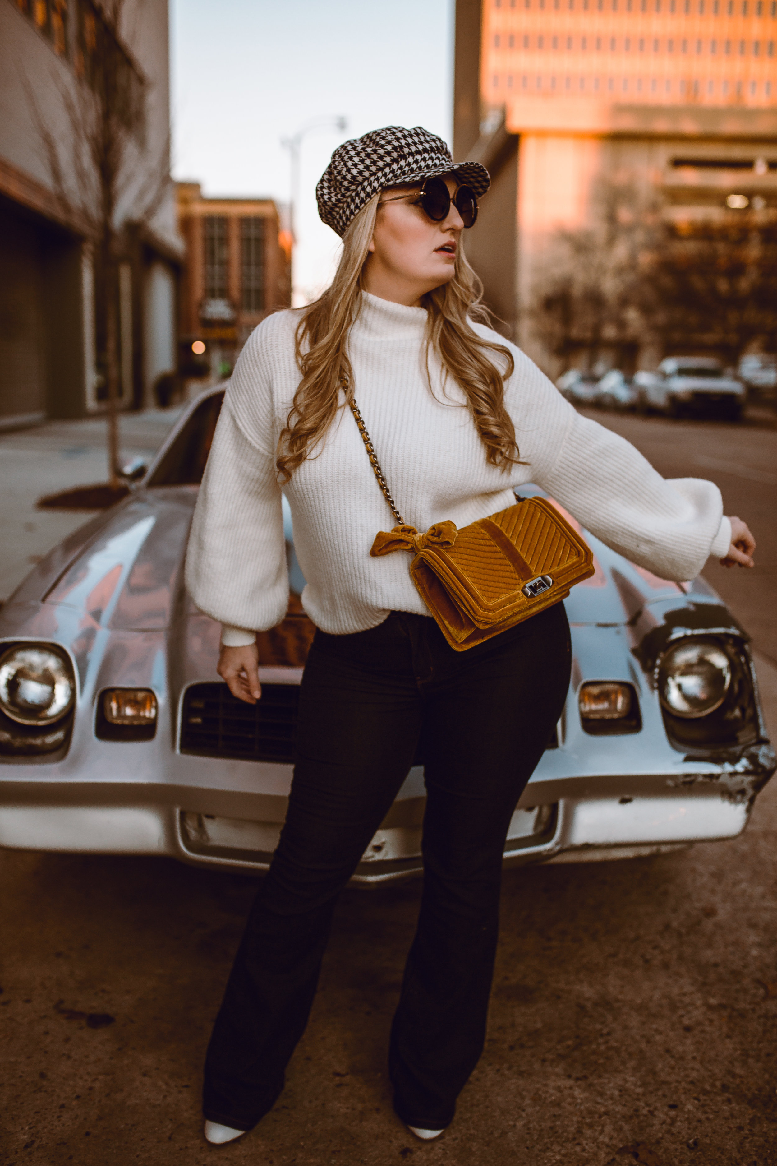 retro inspired 70's mod outfit