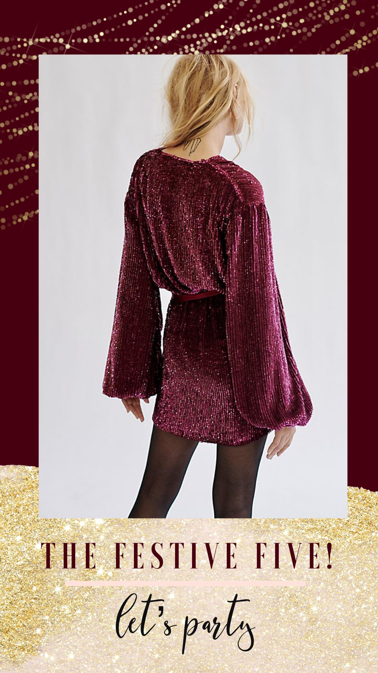 sequin dress, party dress, retro party dress, Christmas dress
