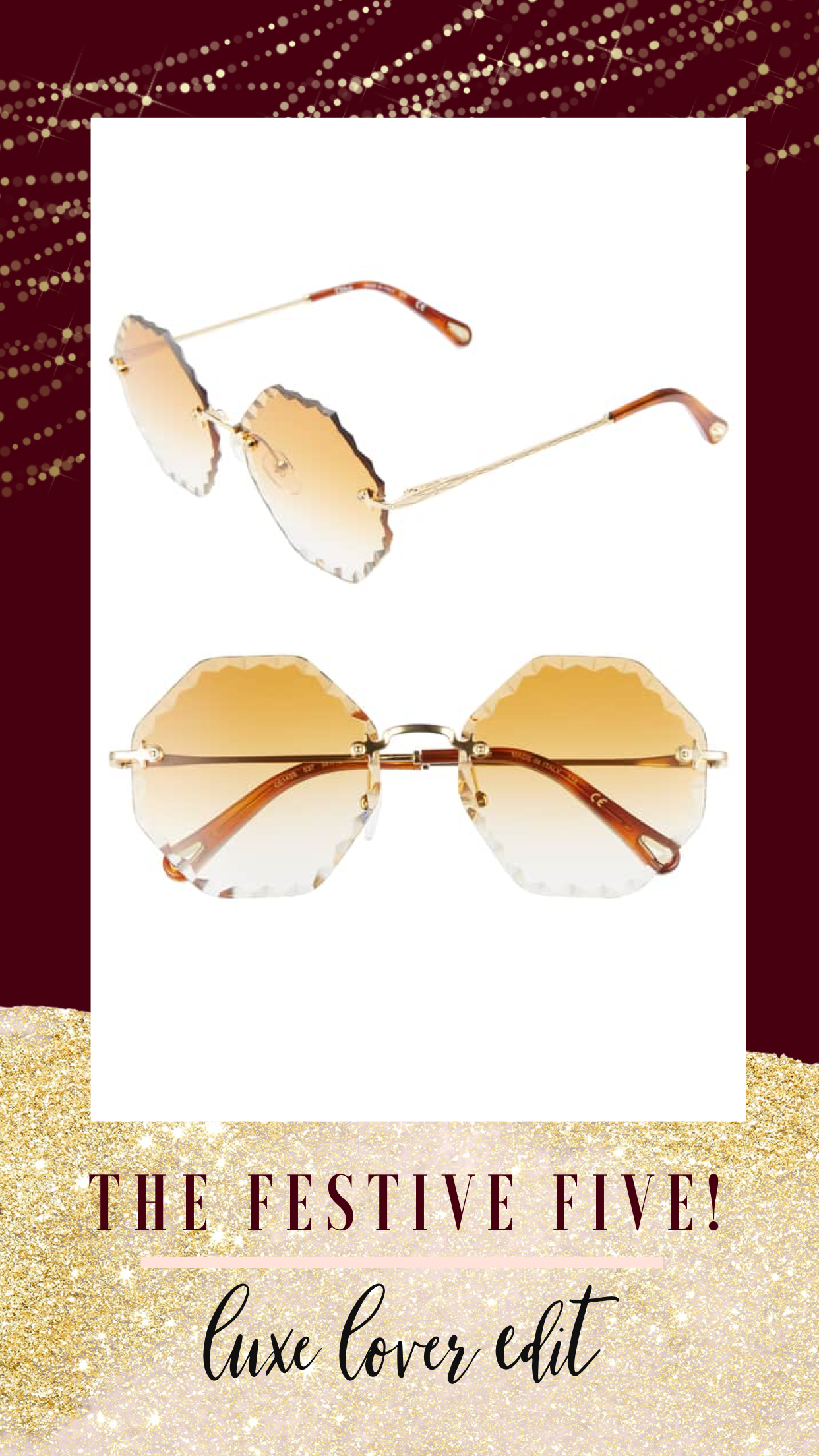 christmas gift, gift guide, Chloe glasses