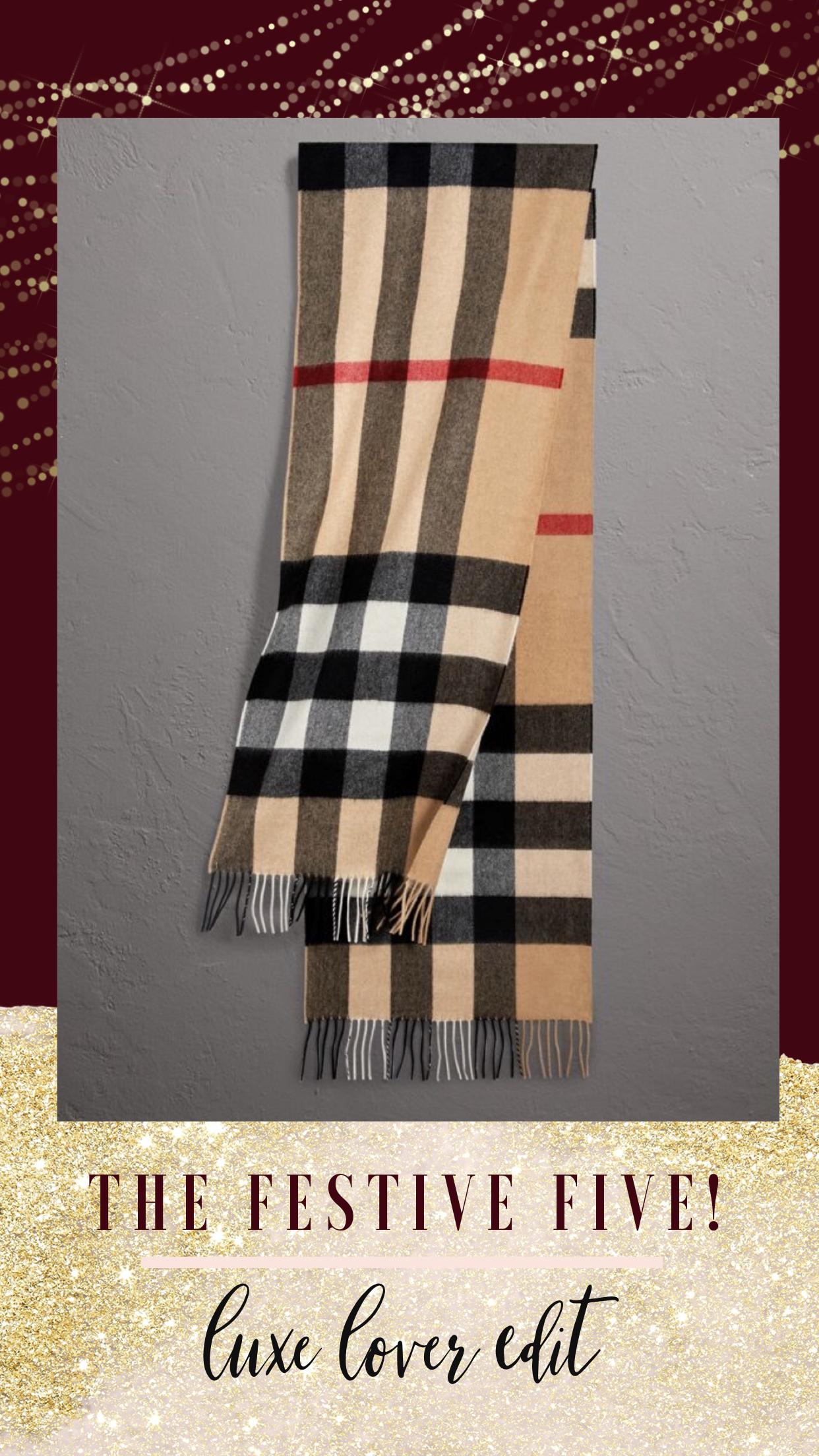Christmas Gift, Burberry Scarf