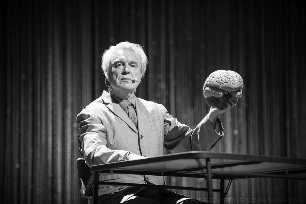 David Byrne is definitely living on the edge