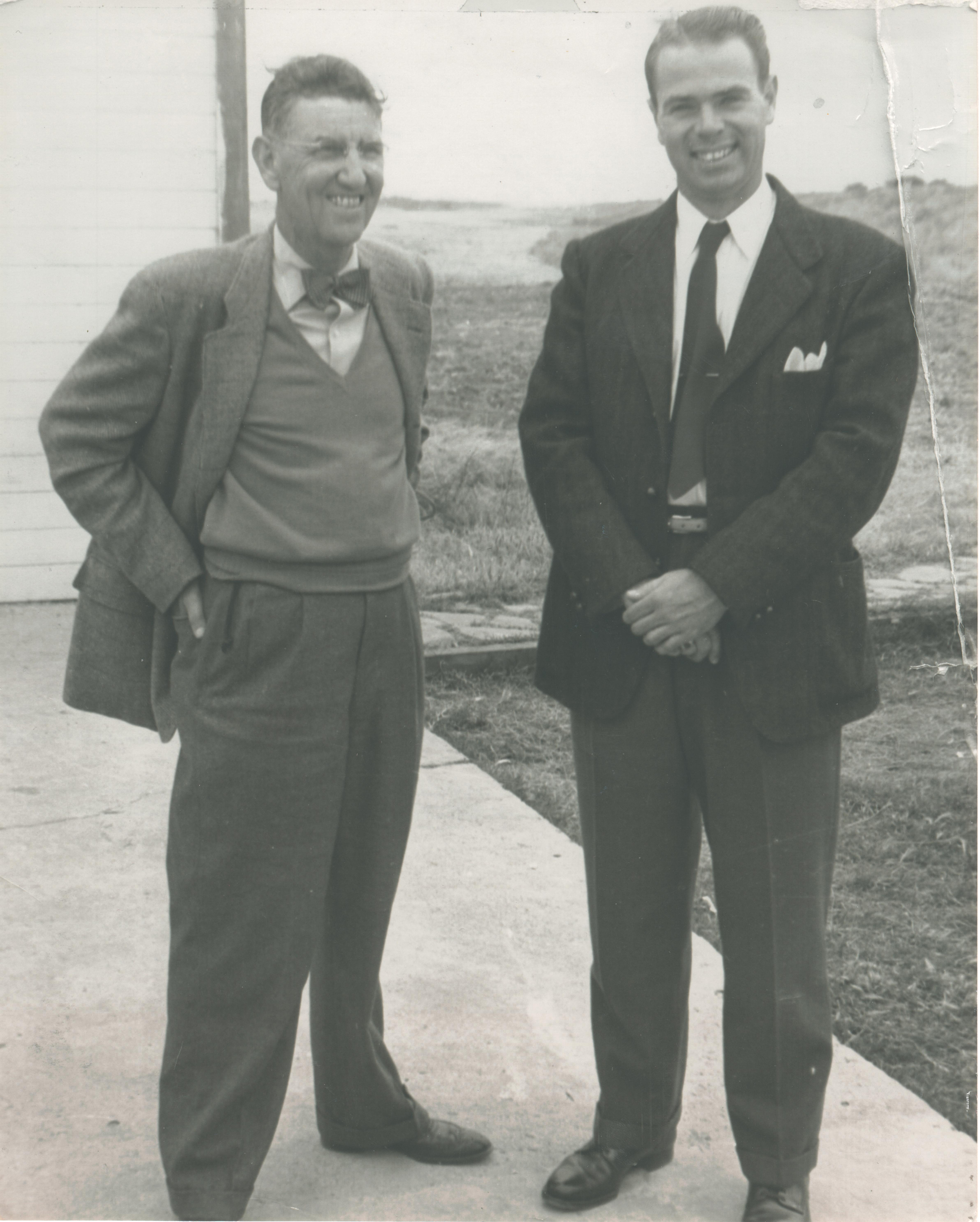 Robert Schaeffer on the right with his old coach, Ky Ebright of UC Berkley, on the left.