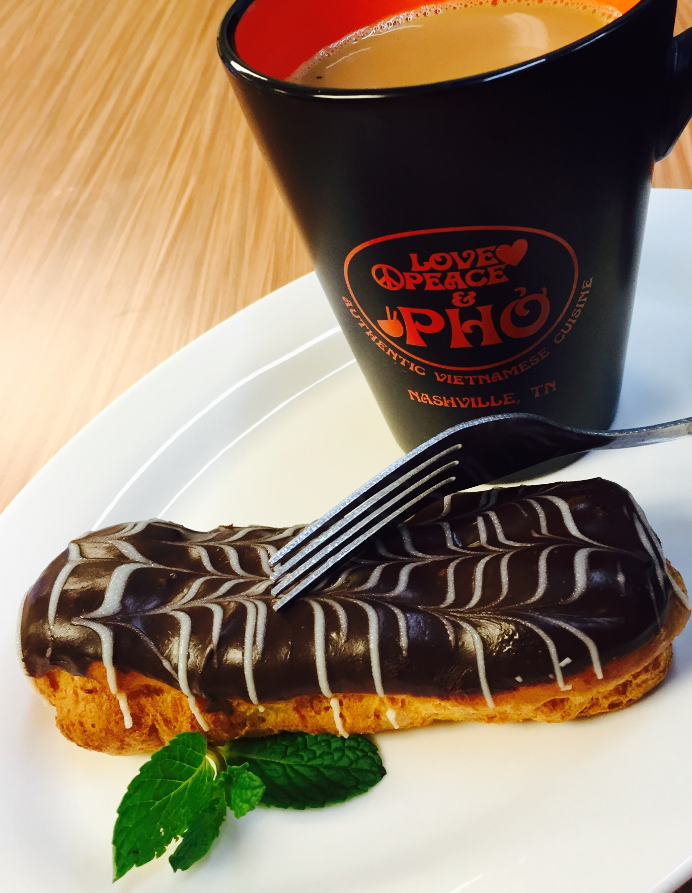 Chocolate Eclaire and Vietnamese Coffee